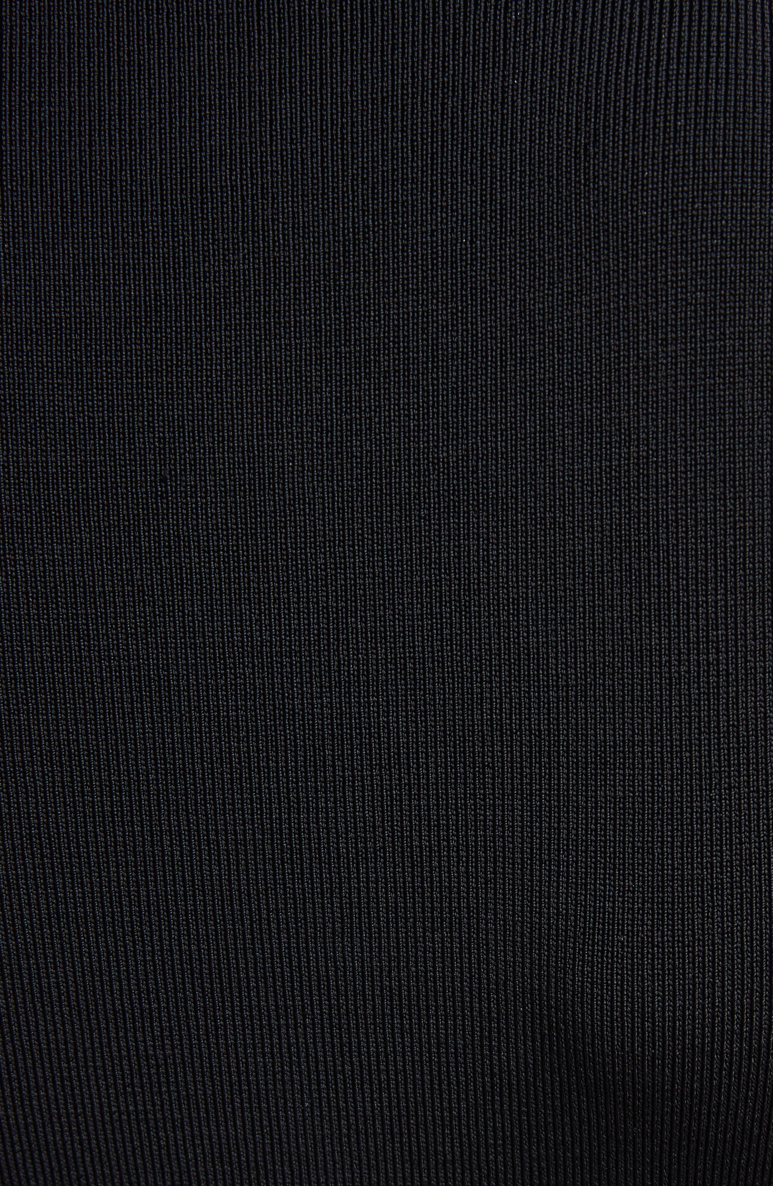 VICTORIA BECKHAM, Cutout Knit Dress, Alternate thumbnail 5, color, BLACK