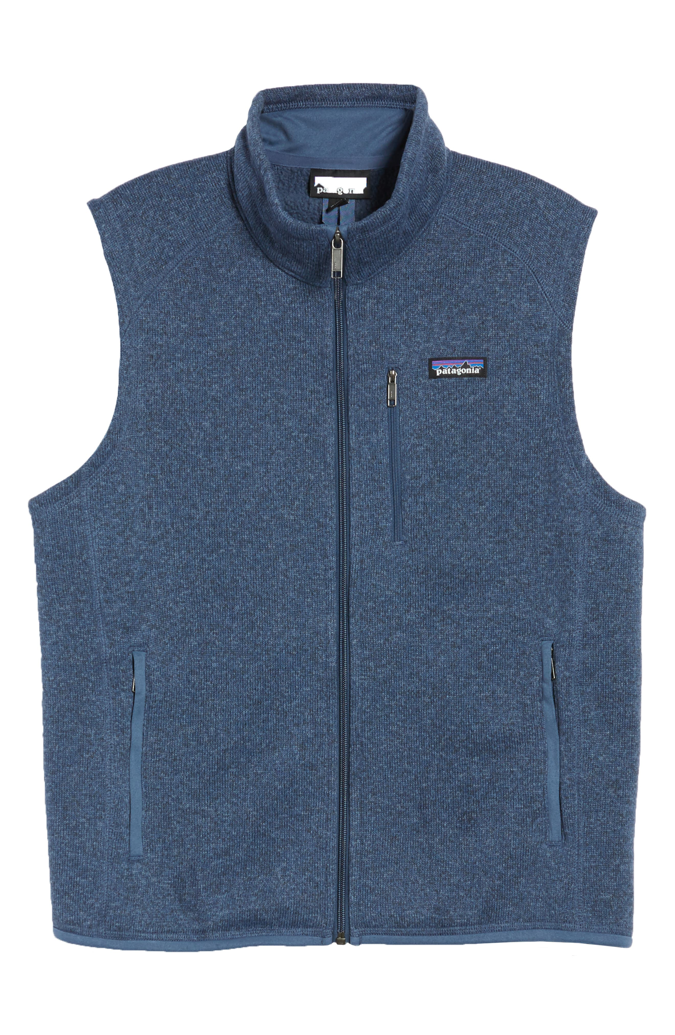 PATAGONIA, 'Better Sweater' Zip Front Vest, Alternate thumbnail 6, color, DOLOMITE BLUE