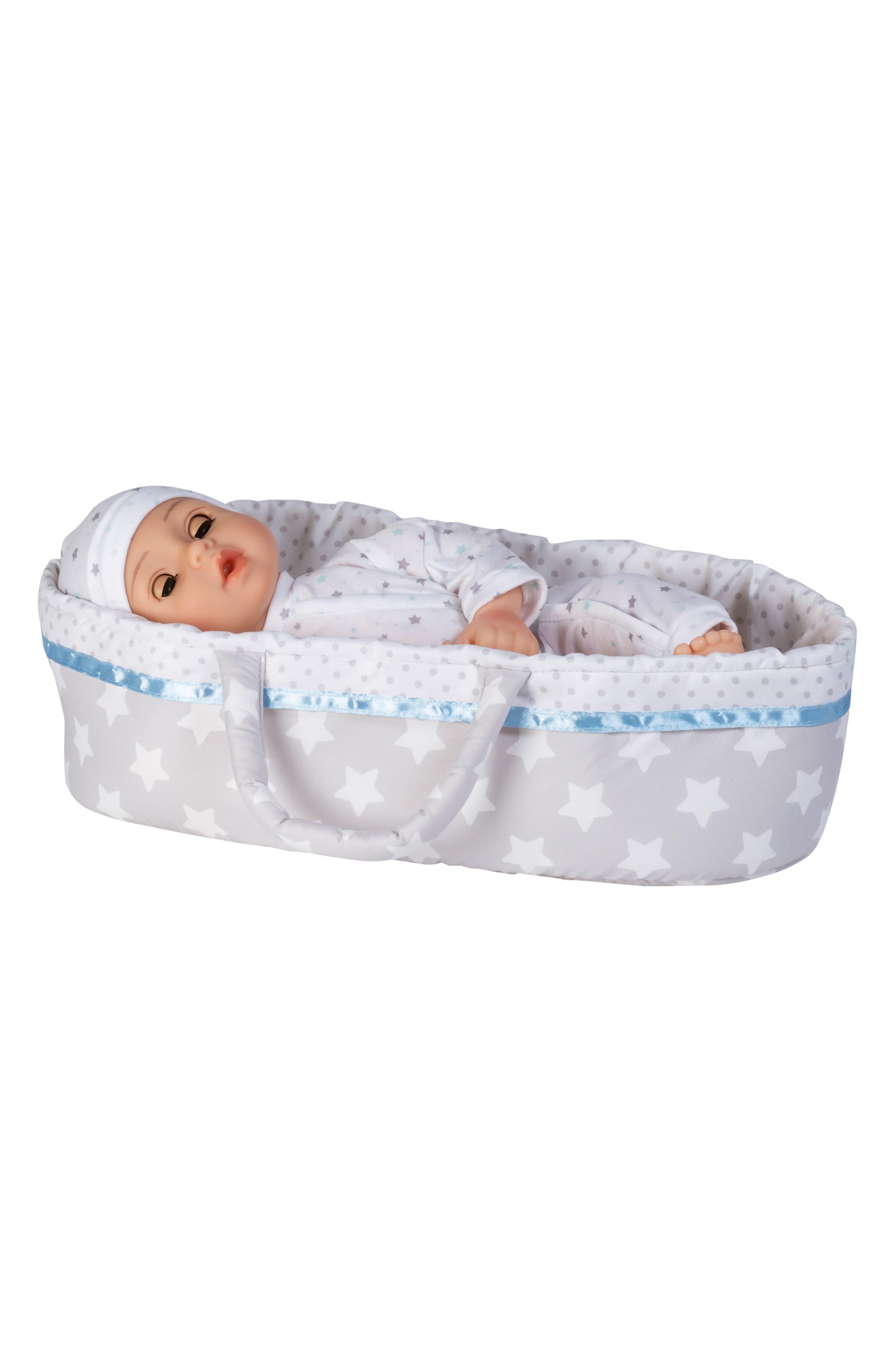 ADORA, Adoption 8-Piece Take Me Home Baby Doll Essentials Set, Alternate thumbnail 4, color, WHITE AND BLUE