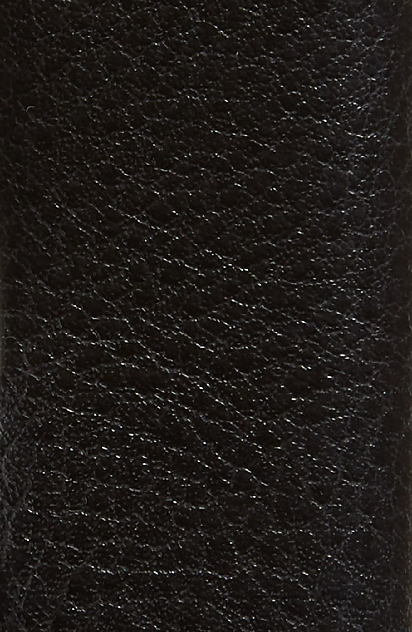 JOHNSTON & MURPHY, Leather Belt, Alternate thumbnail 2, color, BLACK