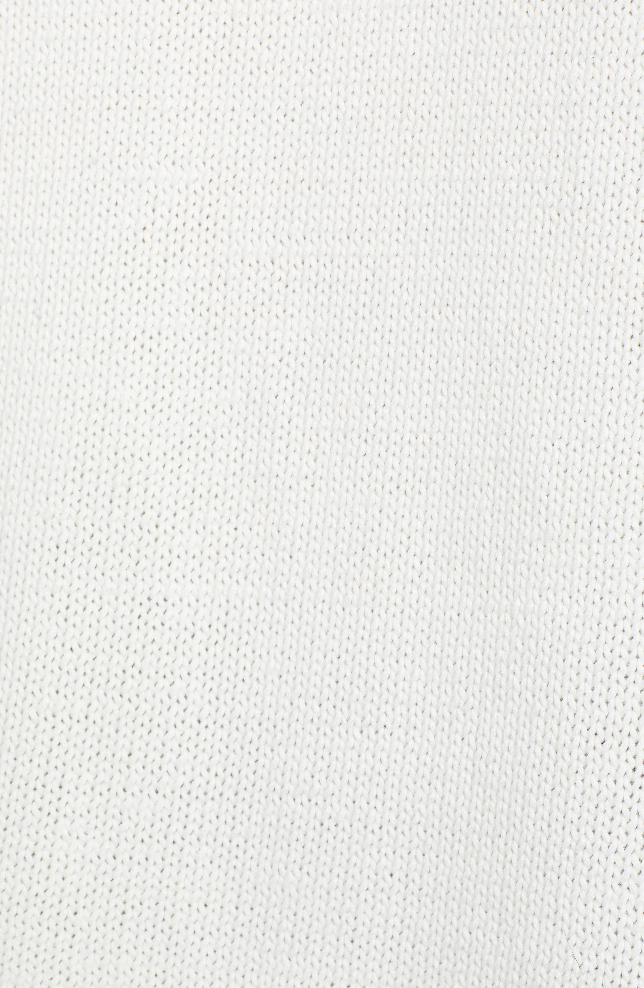 CASLON<SUP>®</SUP>, Off-Duty Hooded Sweater, Alternate thumbnail 5, color, WHITE