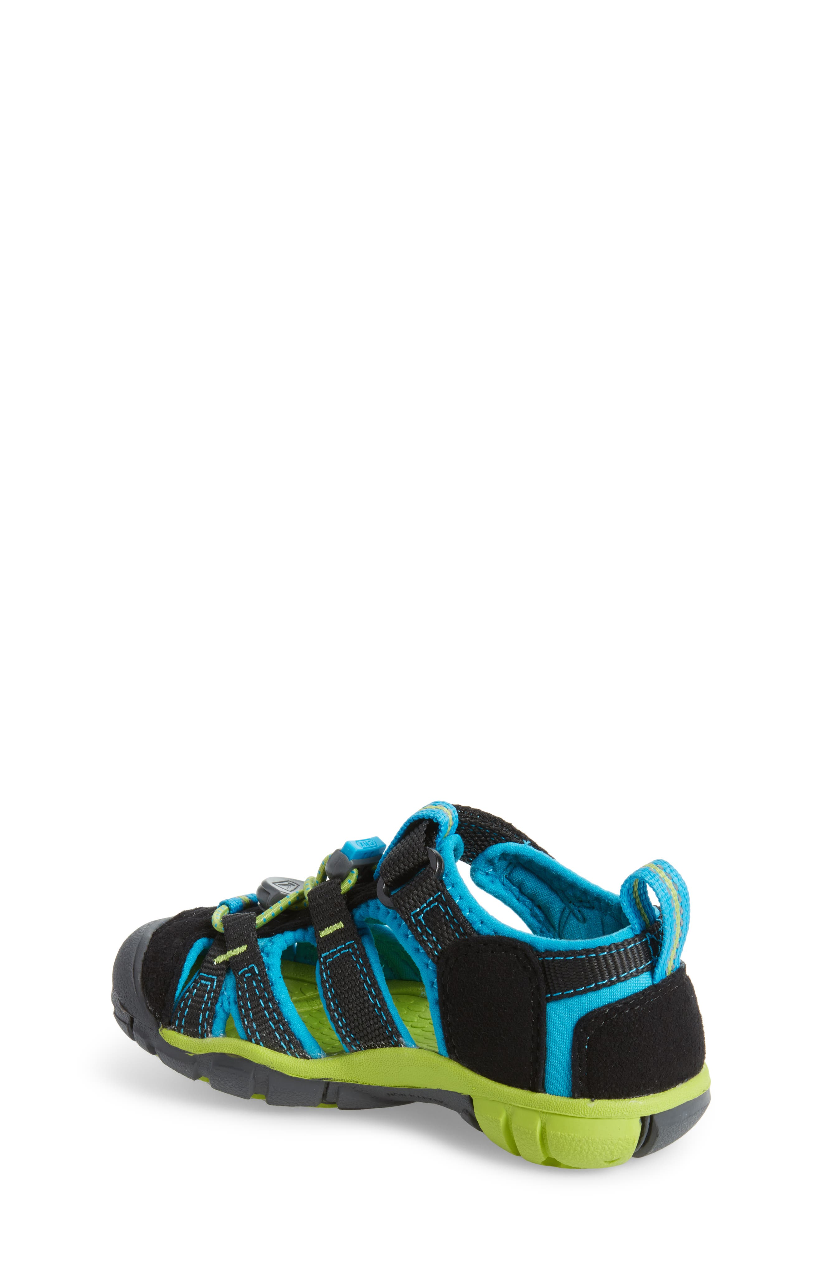 KEEN, 'Seacamp II' Water Friendly Sandal, Alternate thumbnail 2, color, BLACK/ BLUE DANUBE
