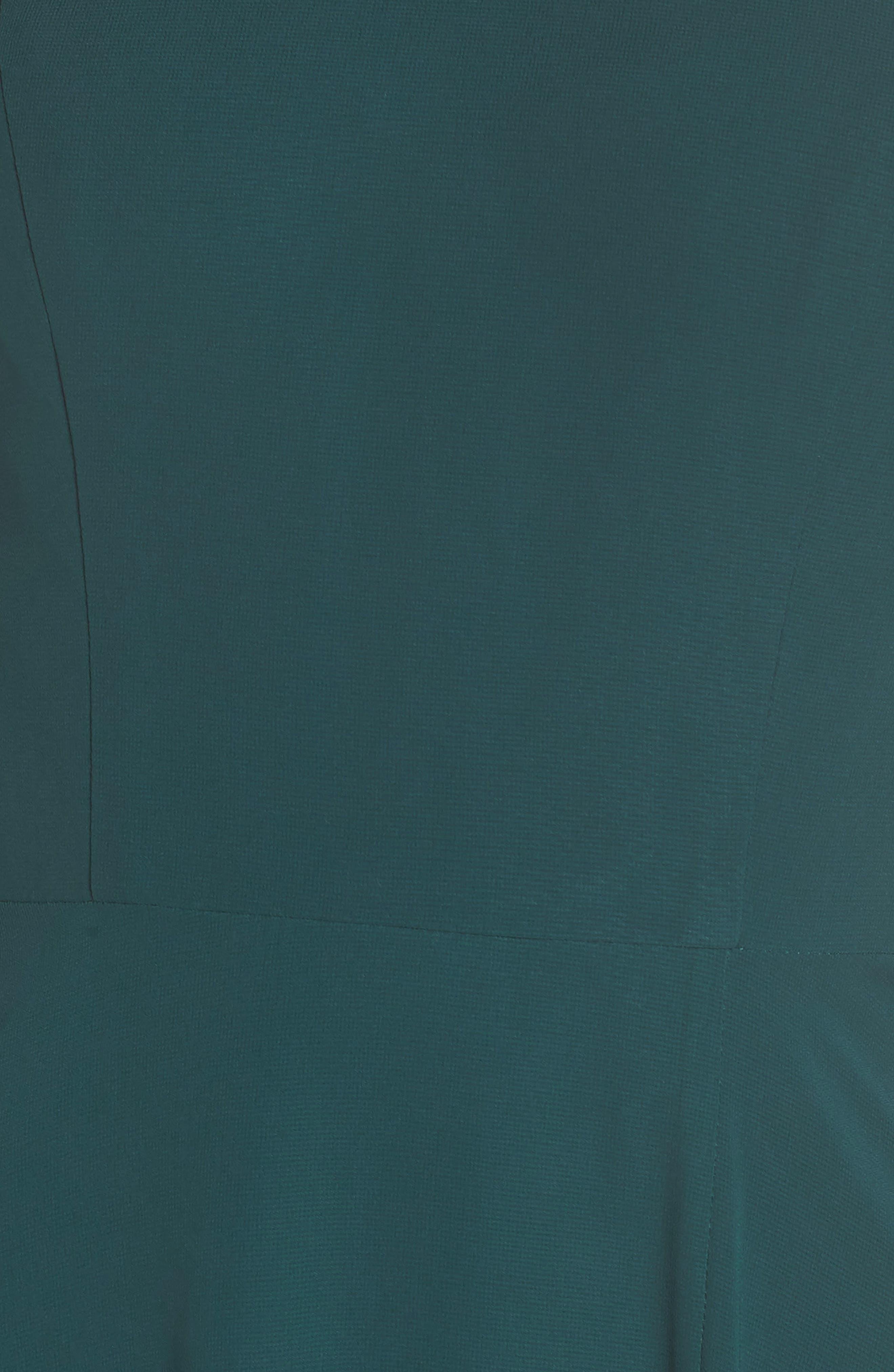 JENNY YOO, Kayla A-Line Halter Gown, Alternate thumbnail 7, color, CASPIAN SEA