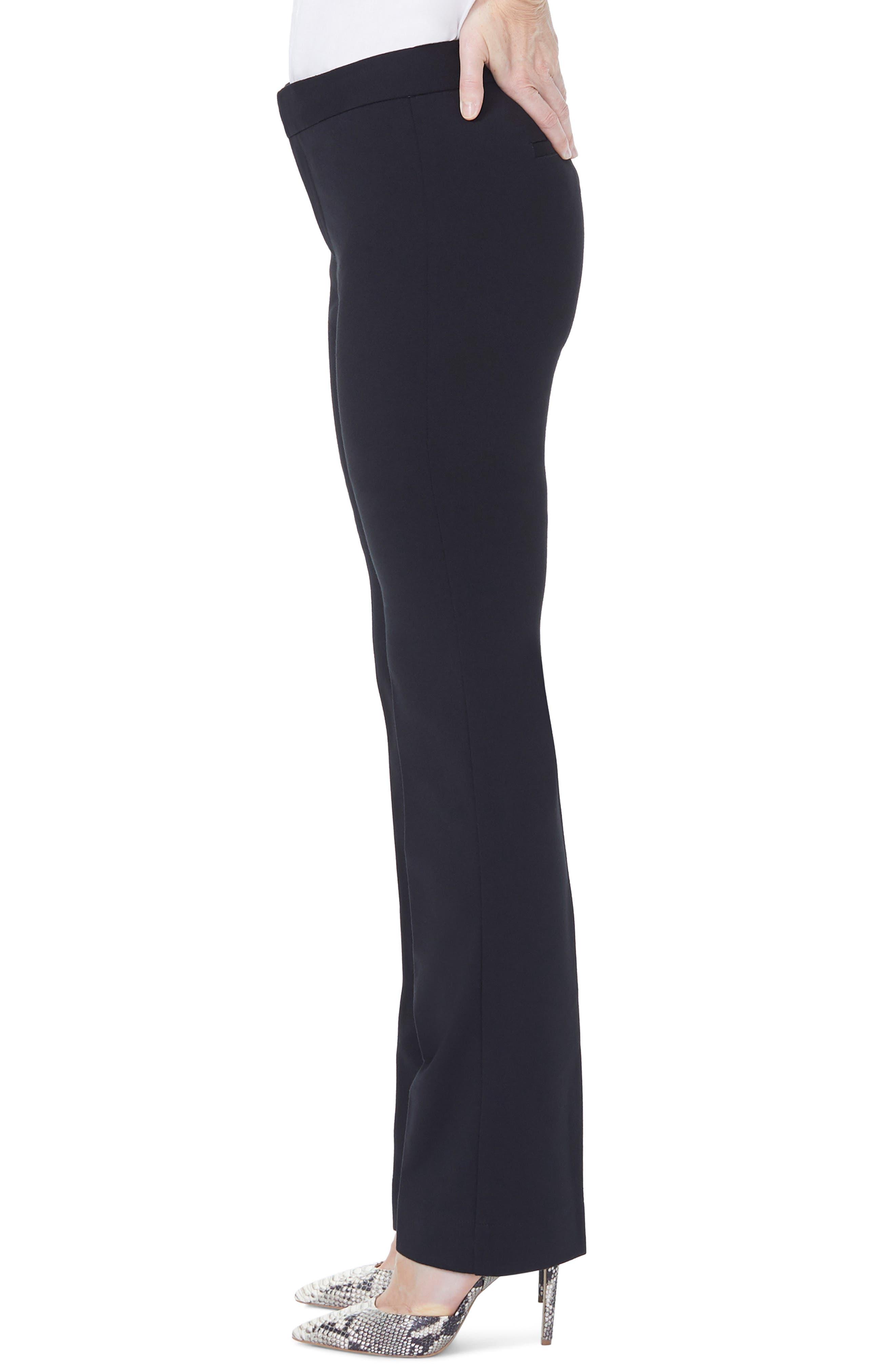 NYDJ, Stretch Knit Trousers, Alternate thumbnail 4, color, BLACK