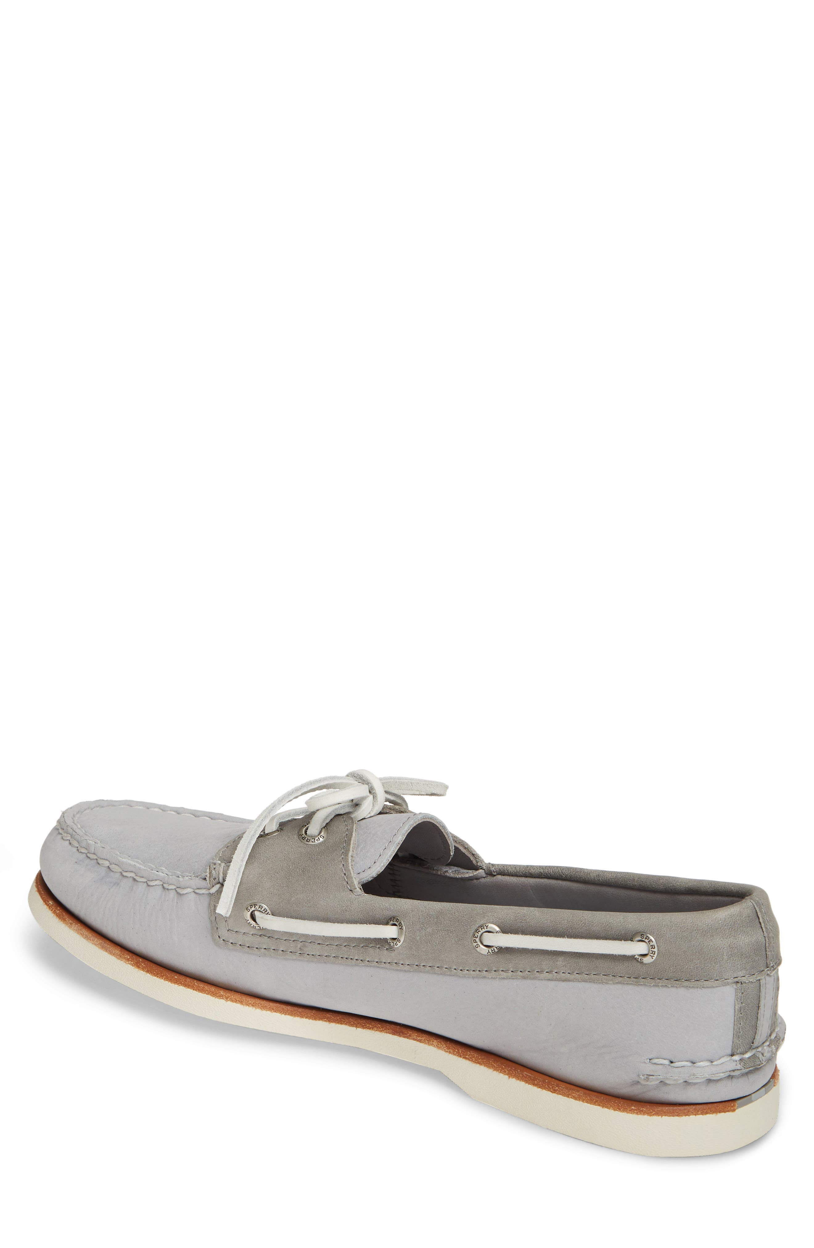 SPERRY, 'Gold Cup - Authentic Original' Boat Shoe, Alternate thumbnail 2, color, GREY/GREY LEATHER