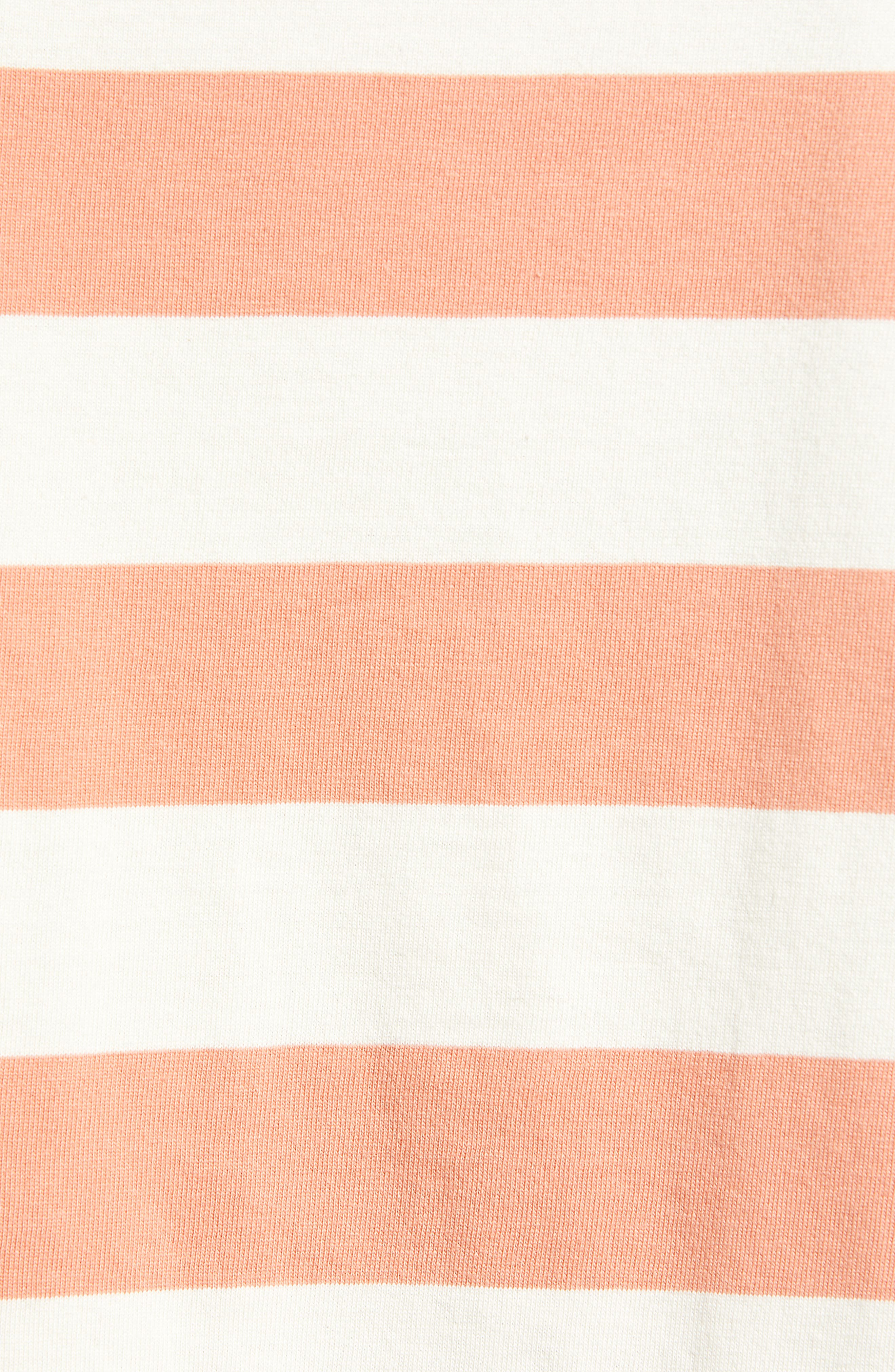 BP., Chambray Collar Polo, Alternate thumbnail 6, color, CORAL CLAY ROCKYPORT STRIPE
