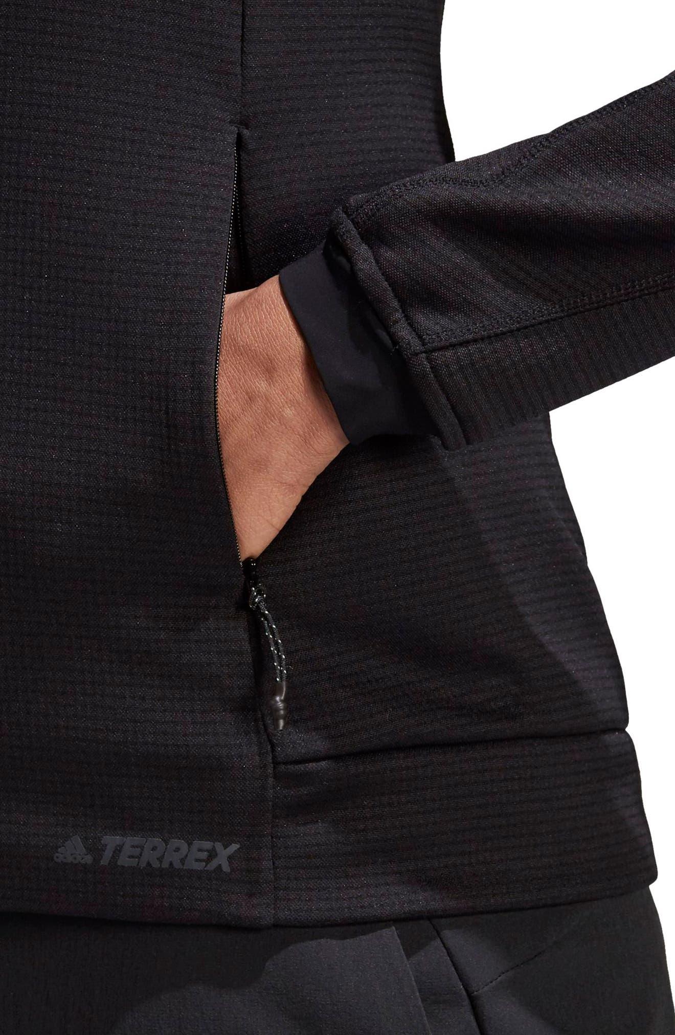 ADIDAS, Stockhorn Fleece Jacket, Alternate thumbnail 5, color, BLACK