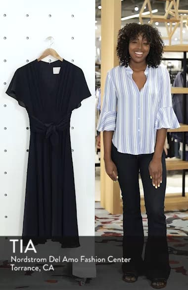Jane Tie Waist Midi Dress, sales video thumbnail