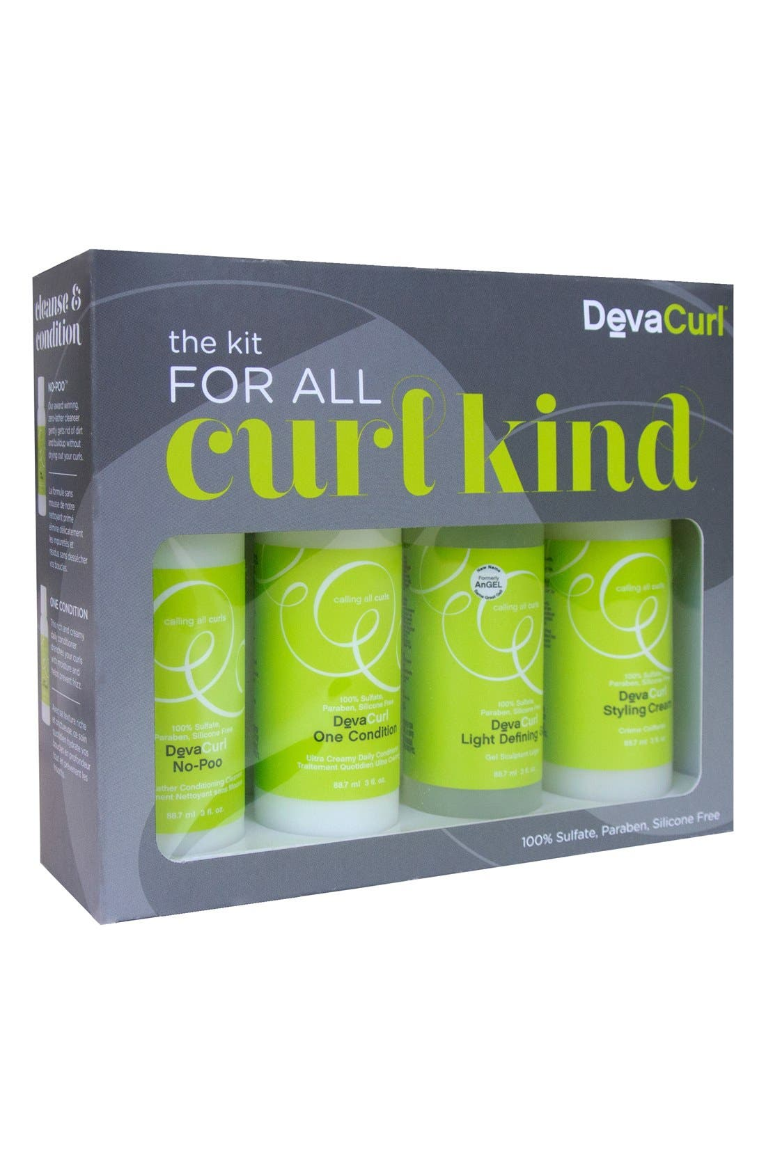 DEVACURL, 'The Kit for All Curl Kind' Set, Main thumbnail 1, color, NO COLOR