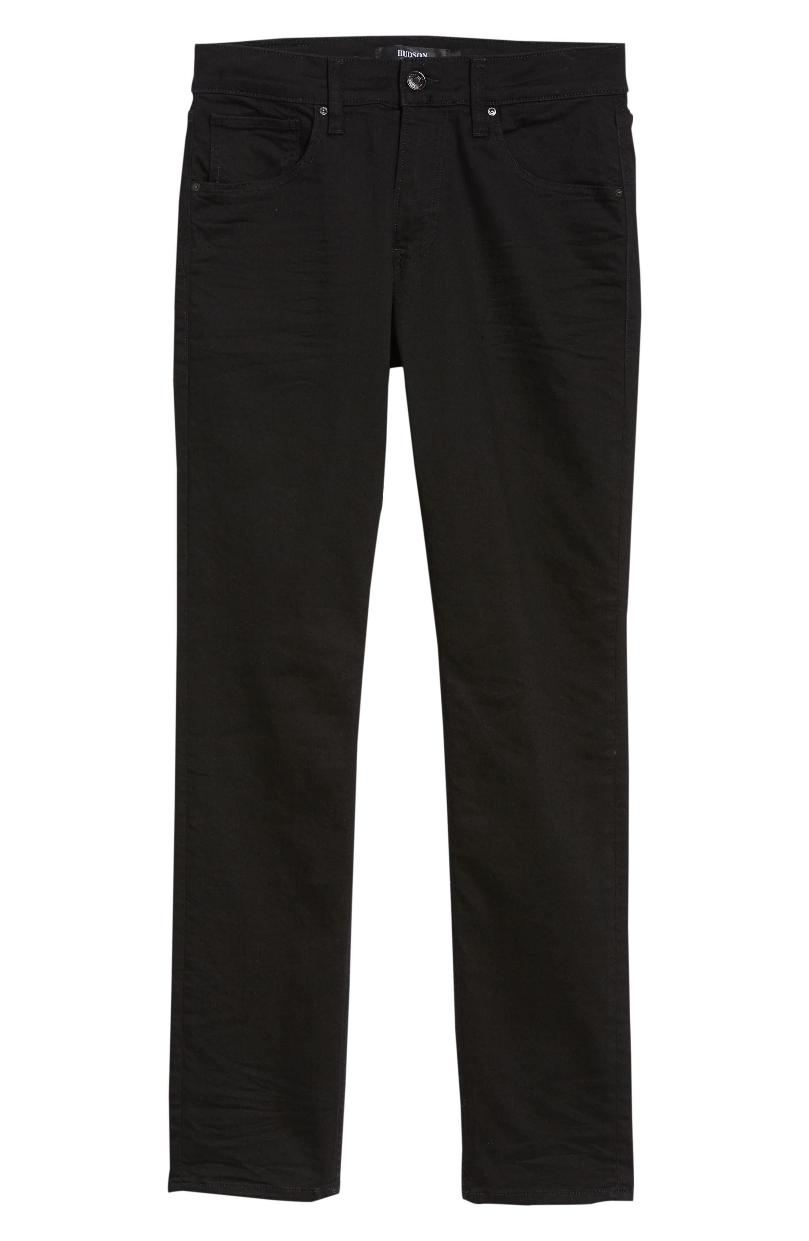 HUDSON JEANS, Blake Slim Fit Straight Leg Jeans, Alternate thumbnail 7, color, HASKETT