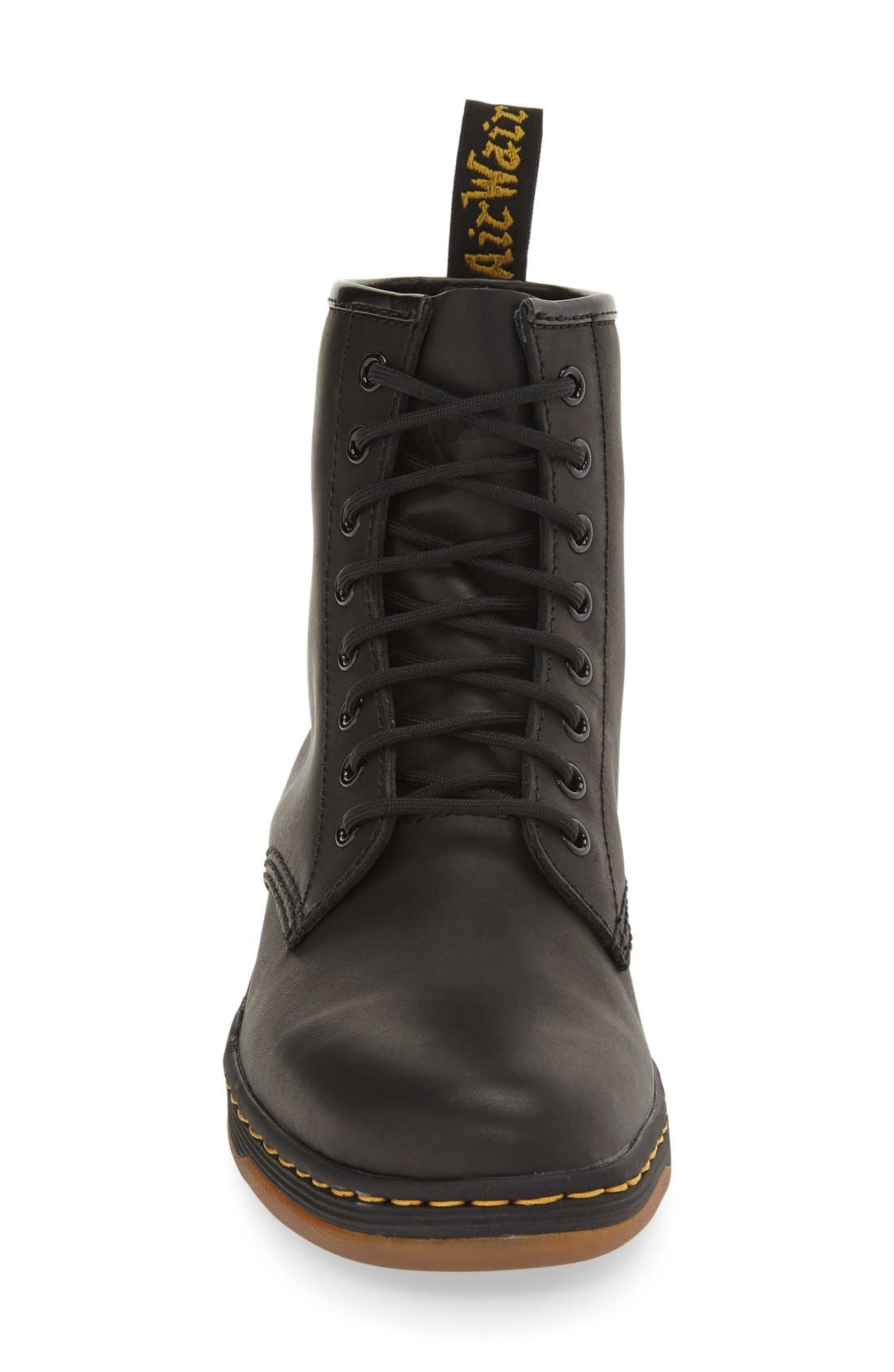 DR. MARTENS, 'Newton' Boot, Alternate thumbnail 4, color, BLACK LEATHER