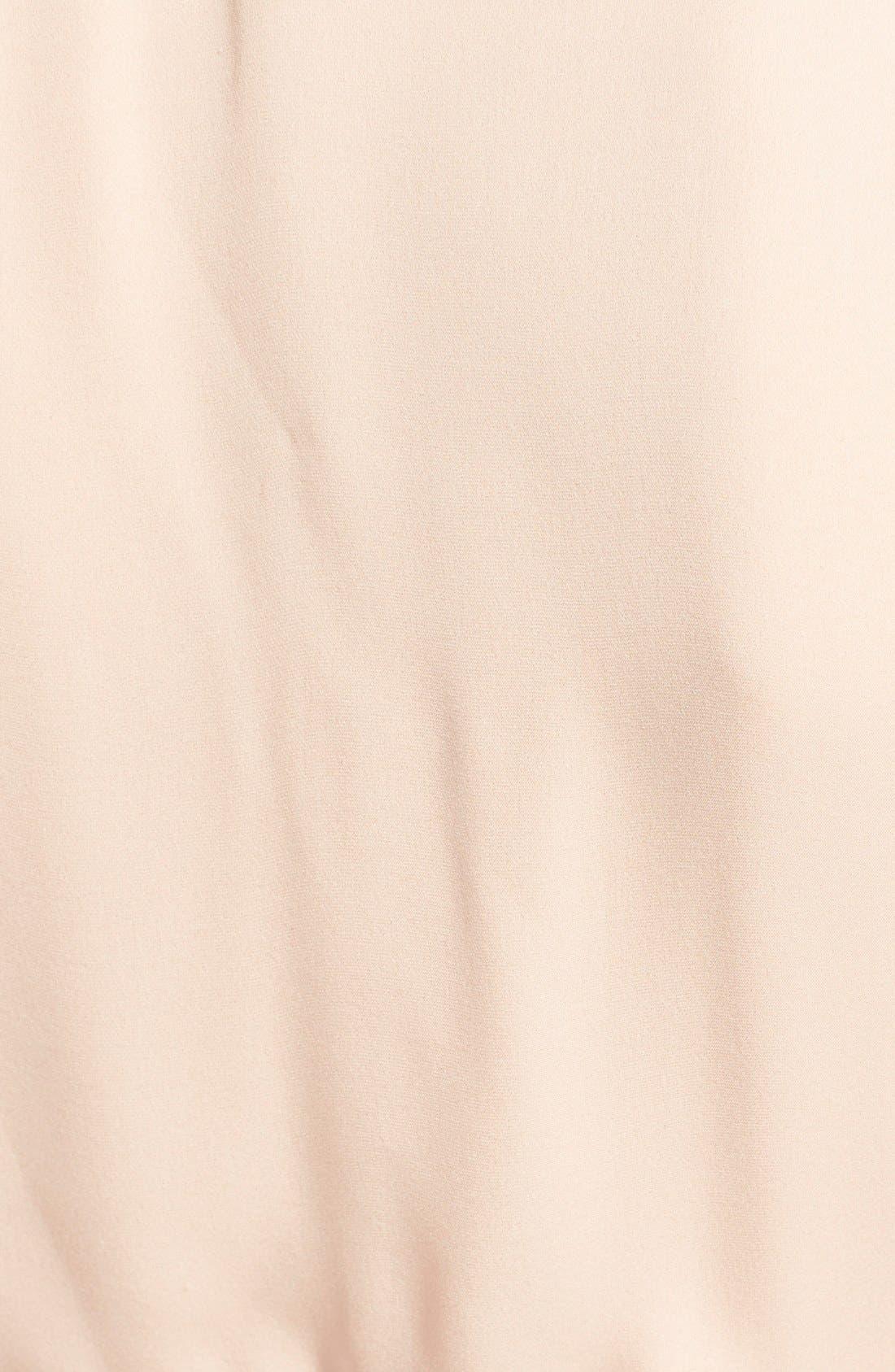 ALICE + OLIVIA, 'Irma' Tie Neck Silk Blouse, Alternate thumbnail 4, color, 260