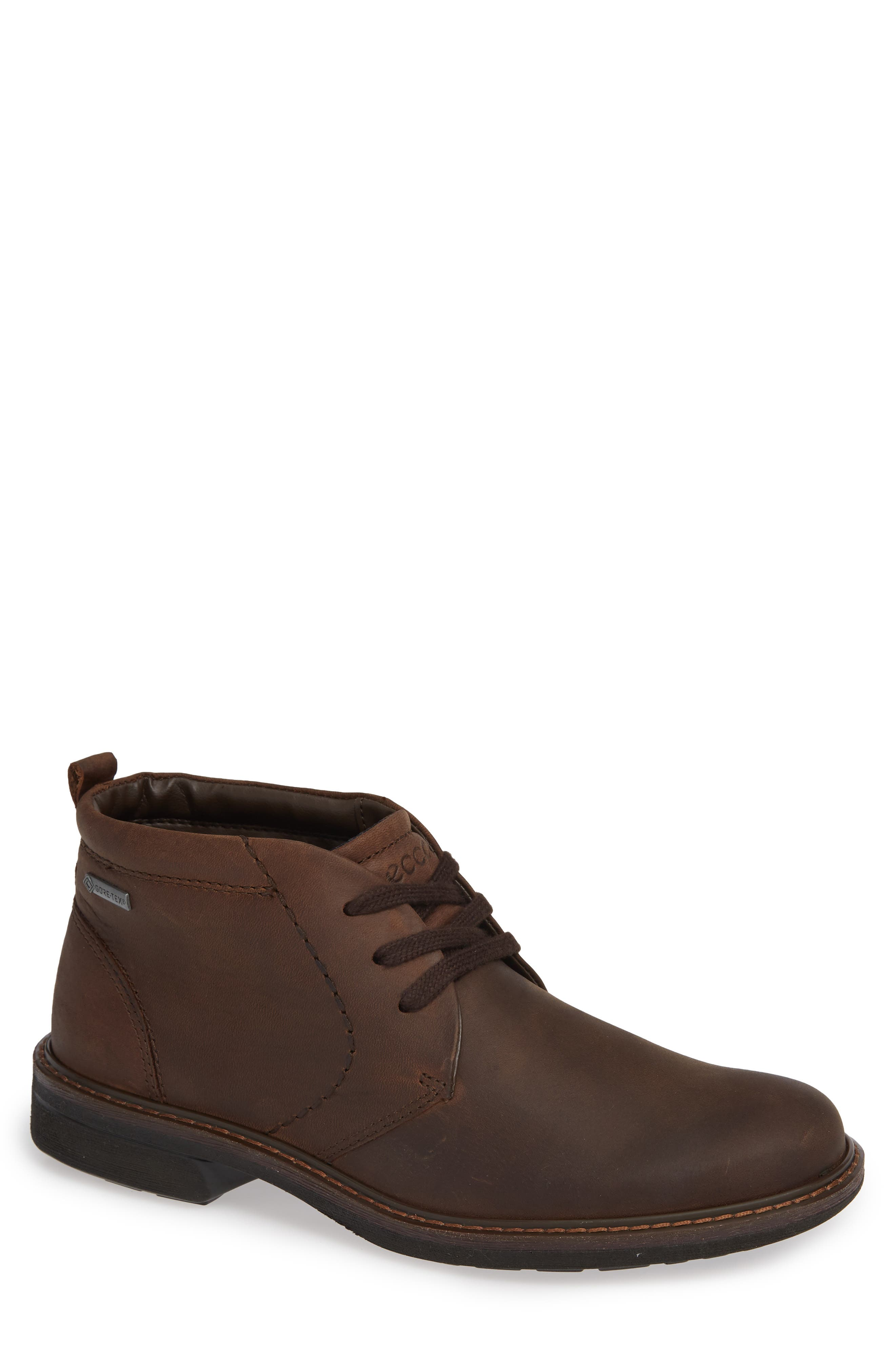 ECCO Turn Gore-Tex<sup>®</sup> Waterproof Chukka Boot, Main, color, COCOA BROWN