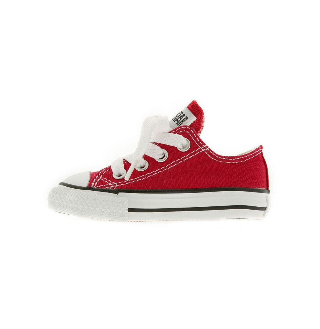 CONVERSE, Chuck Taylor<sup>®</sup> Low Top Sneaker, Alternate thumbnail 3, color, RED