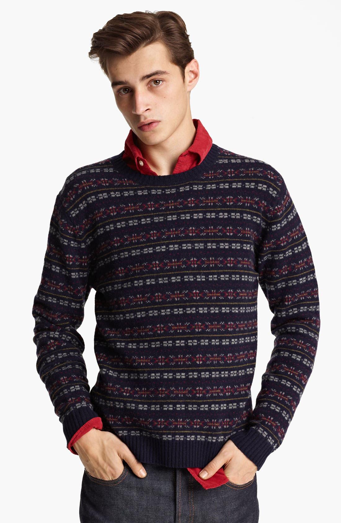 GRAYERS, Fair Isle Wool Sweater, Main thumbnail 1, color, 410