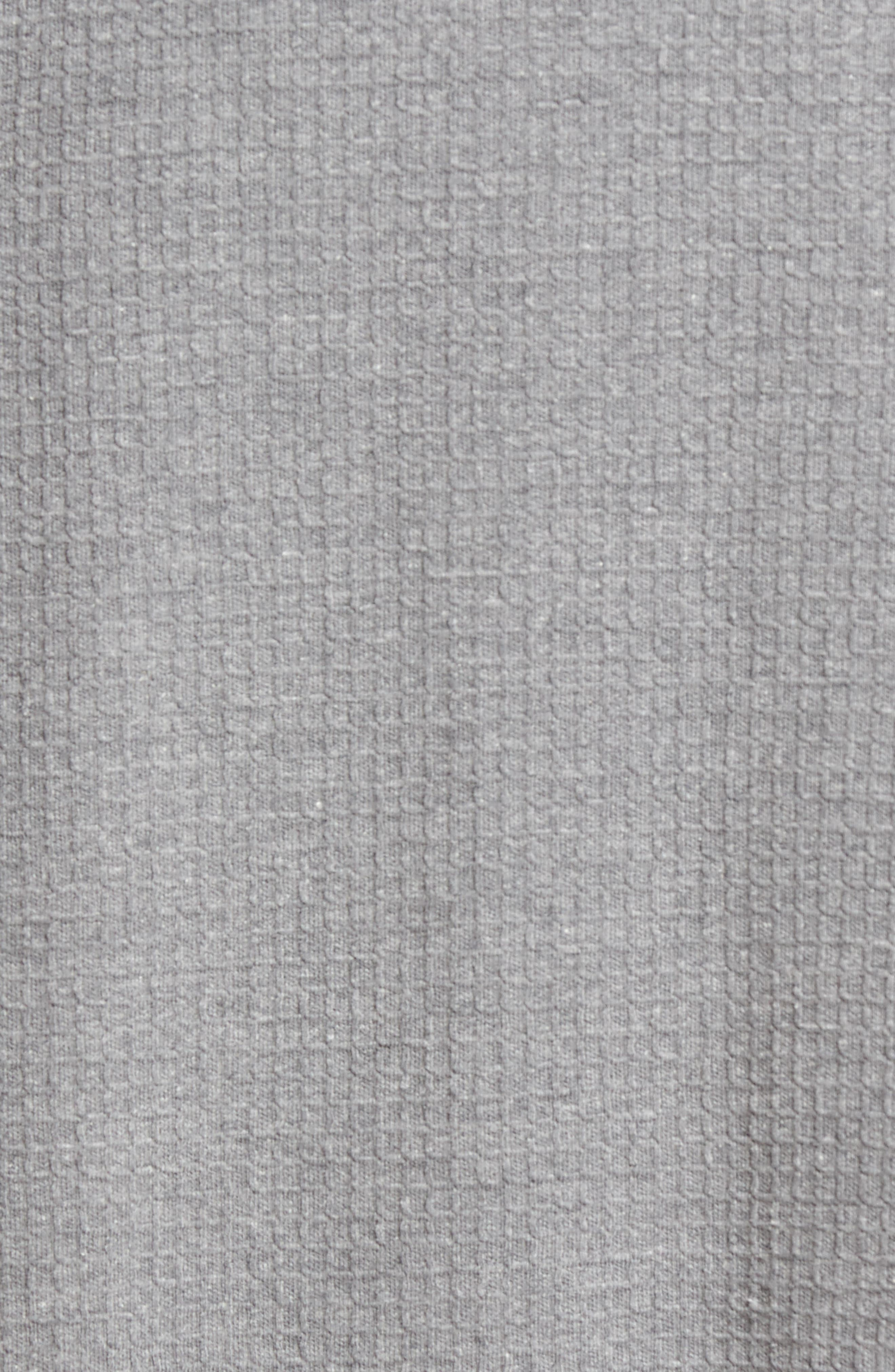 MAJESTIC INTERNATIONAL, Waffle Knit Robe, Alternate thumbnail 5, color, FOG