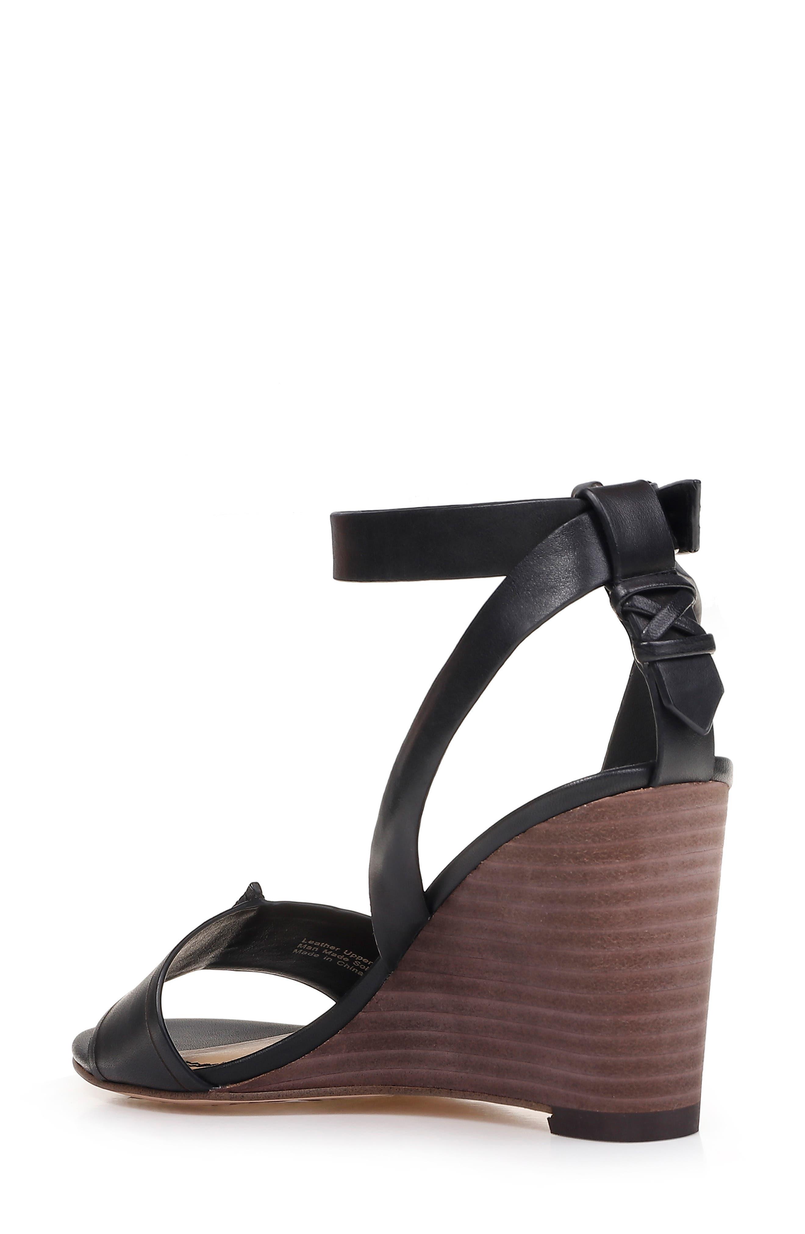 SPLENDID, Tadeo Wedge Ankle Strap Sandal, Alternate thumbnail 2, color, BLACK LEATHER