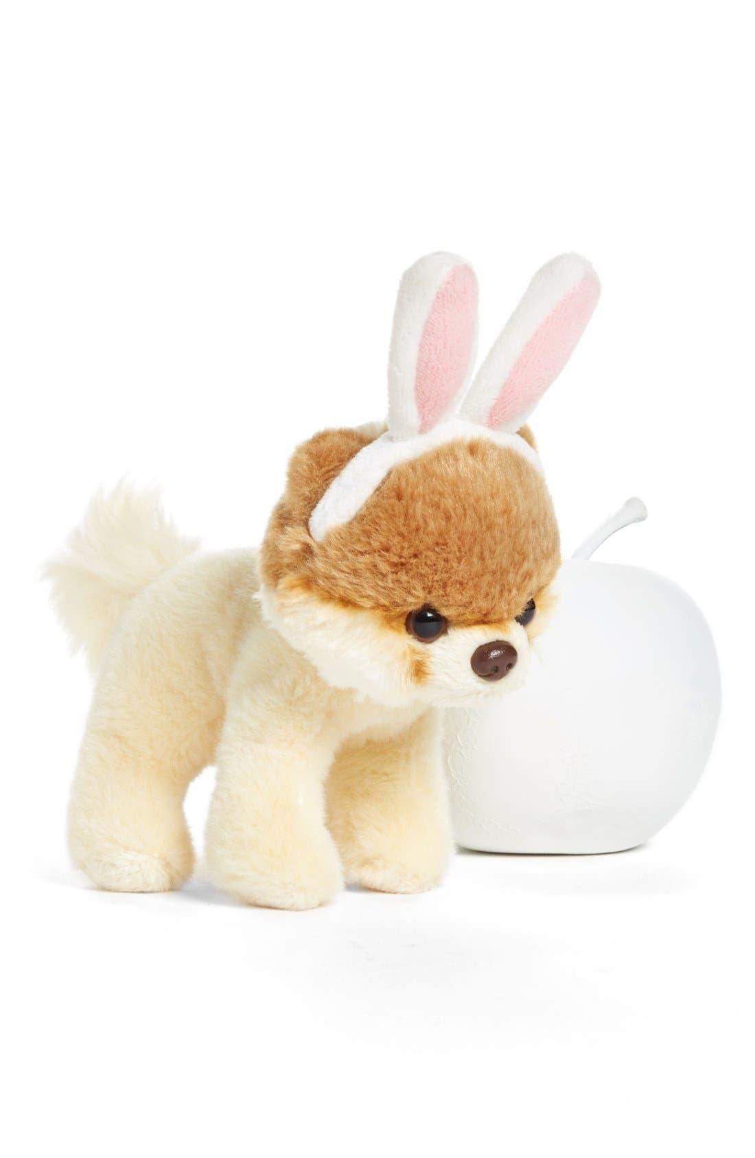 GUND, 'Itty Bitty Boo - Bunny Ears' Stuffed Animal, Alternate thumbnail 2, color, 000