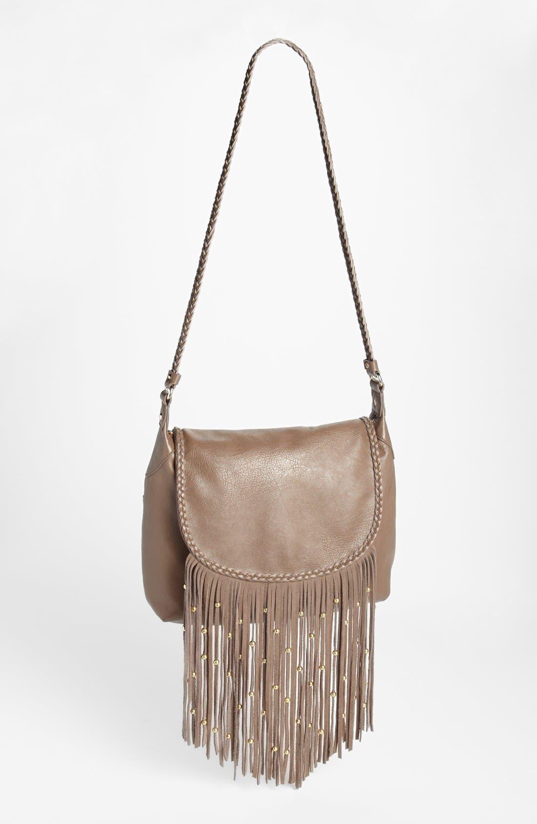 IZZY & ALI 'Farah' Fringe Shoulder Bag, Main, color, 250