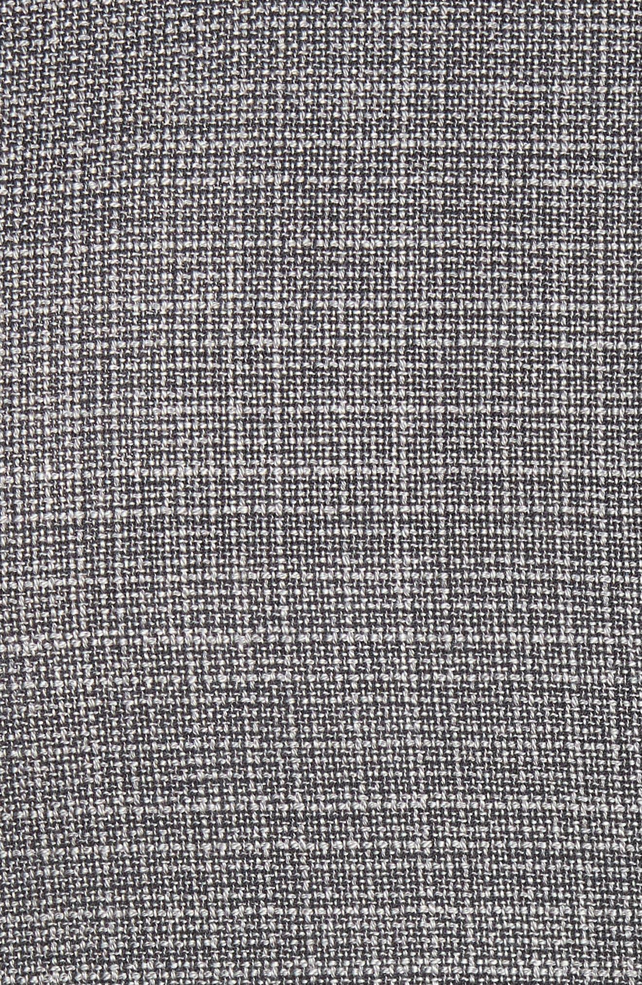 BOSS, Janson Classic Fit Wool Blazer, Alternate thumbnail 6, color, GREY