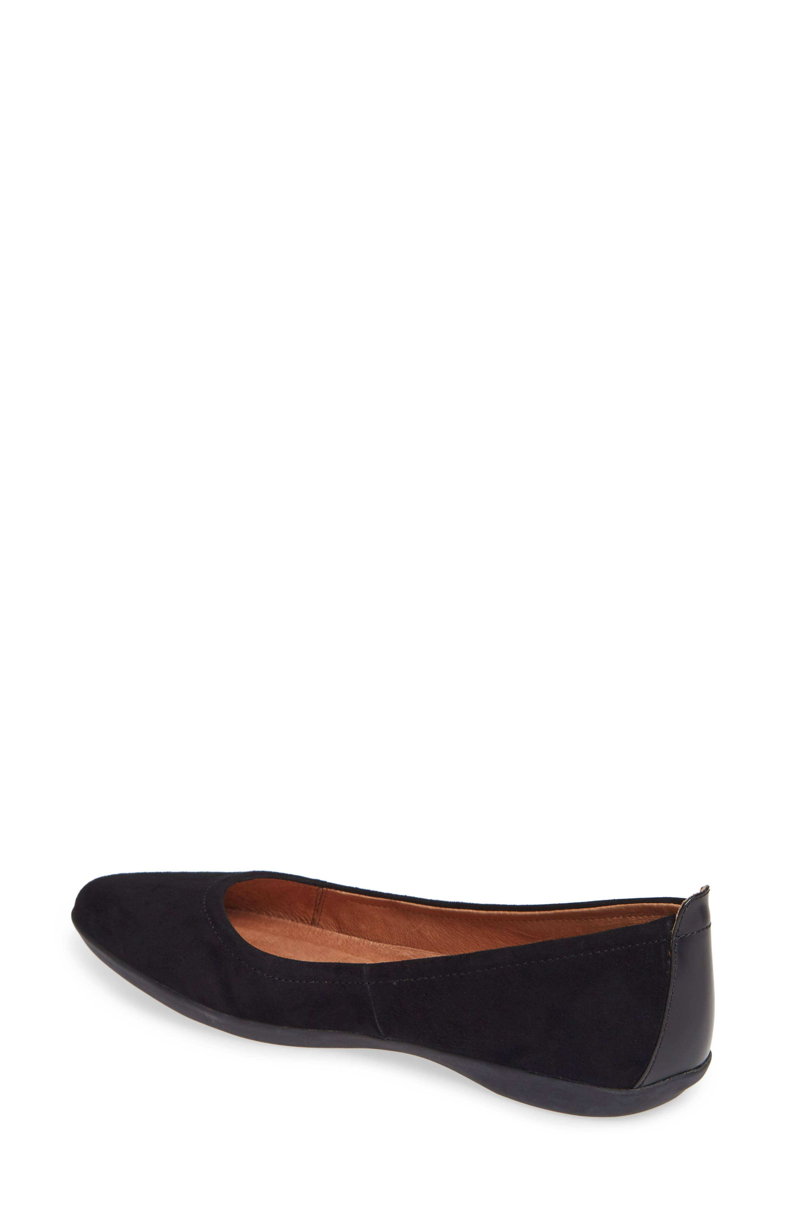SUDINI, Lily Flat, Alternate thumbnail 2, color, BLACK SUEDE