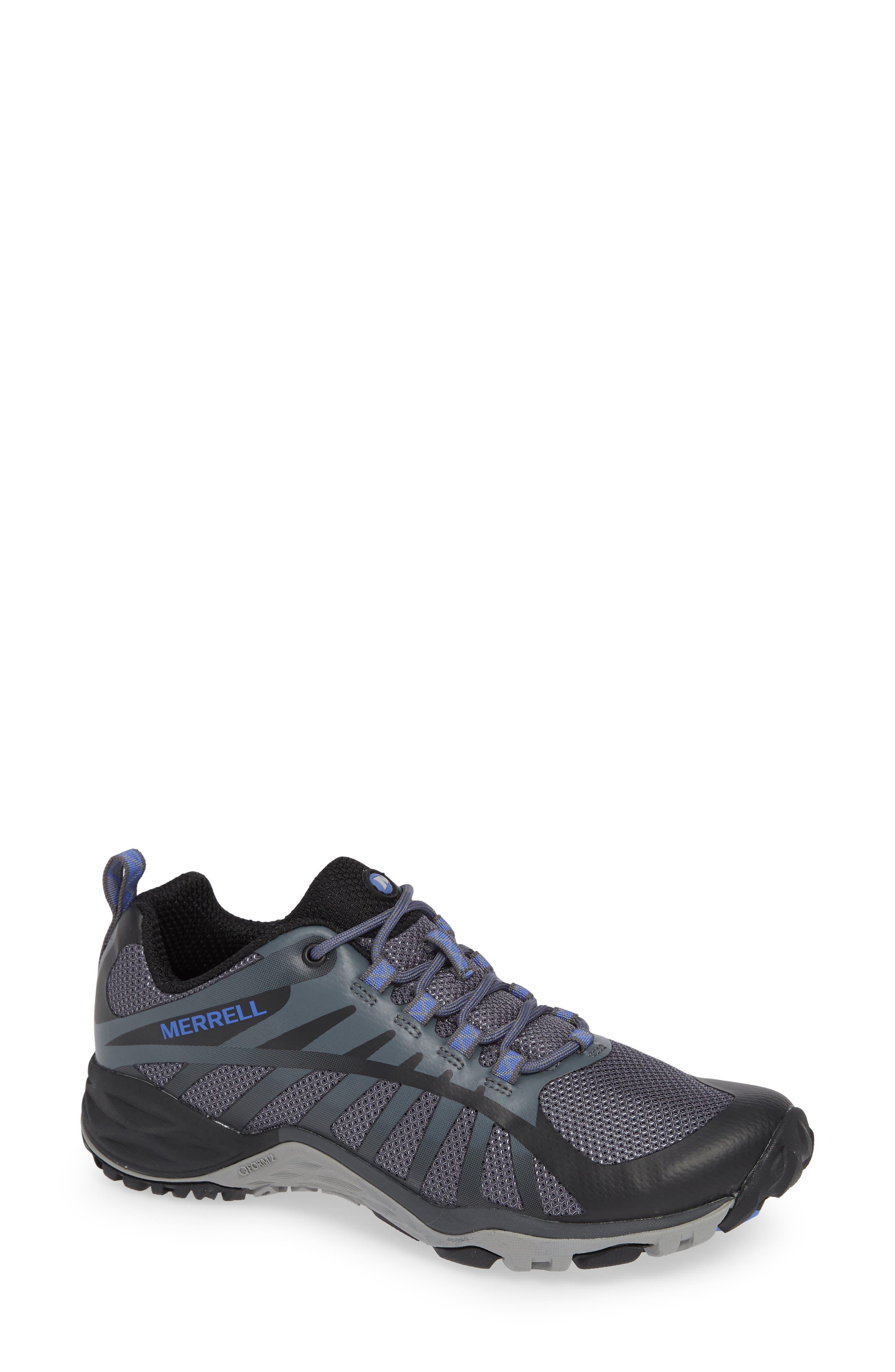 MERRELL, Siren Edge Q2 Hiking Shoe, Main thumbnail 1, color, BLACK FABRIC