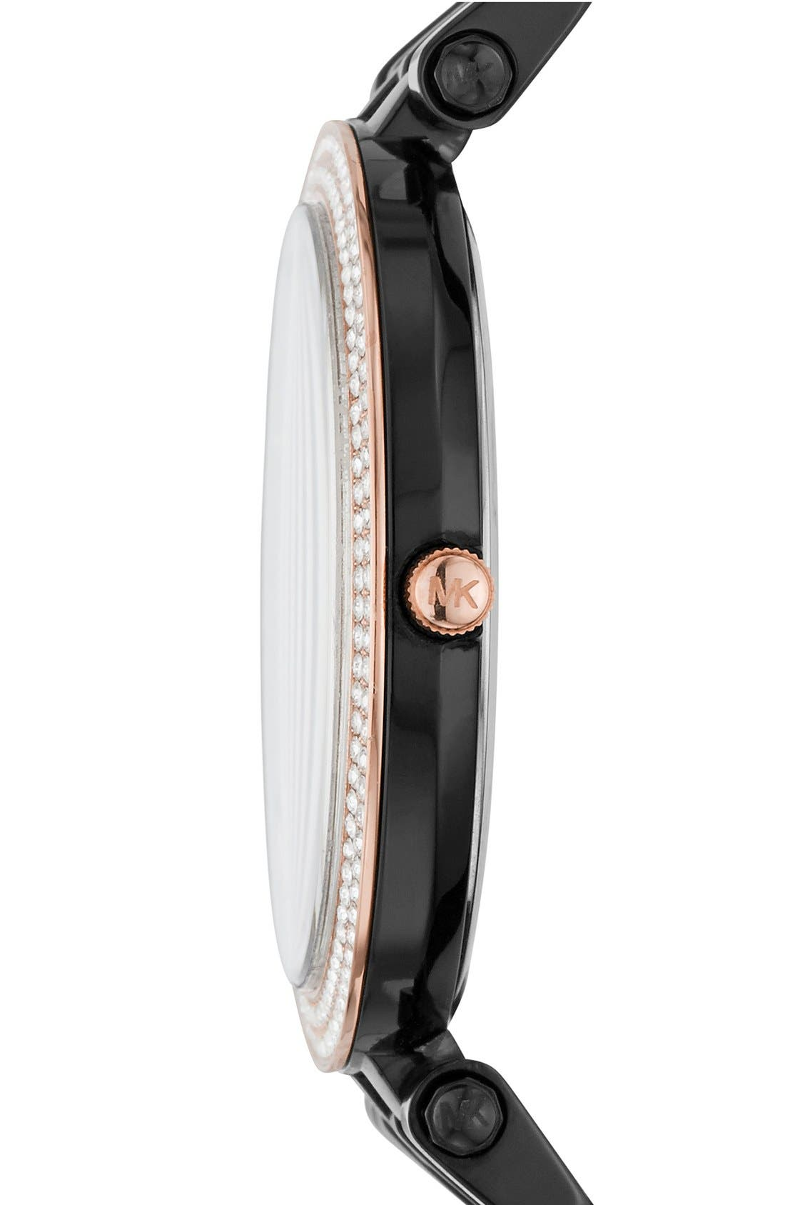 MICHAEL KORS, 'Darci' Round Bracelet Watch, 39mm, Alternate thumbnail 2, color, 001