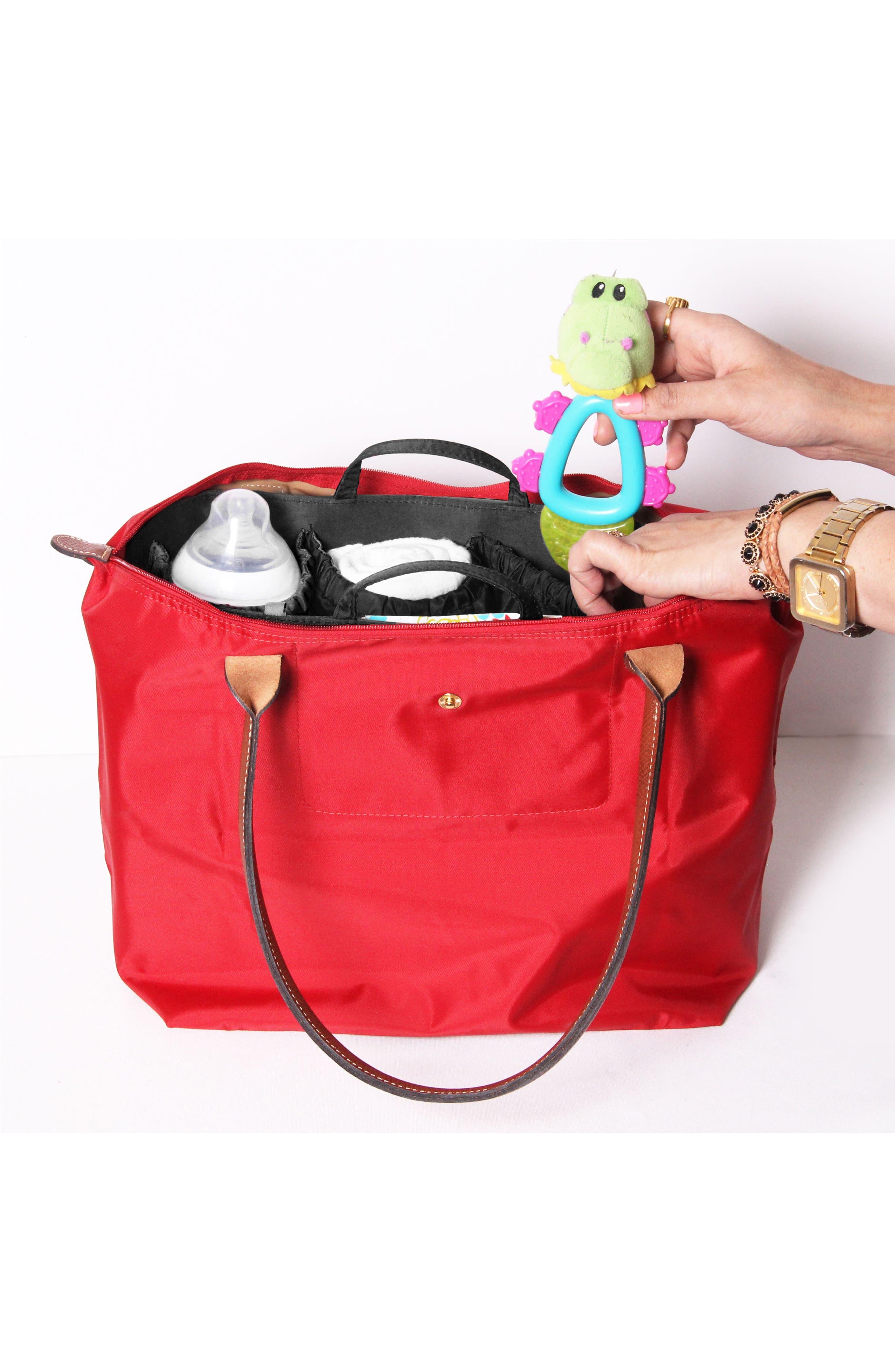 TOTESAVVY, Organization Handbag Insert, Alternate thumbnail 9, color, CLASSIC BLACK