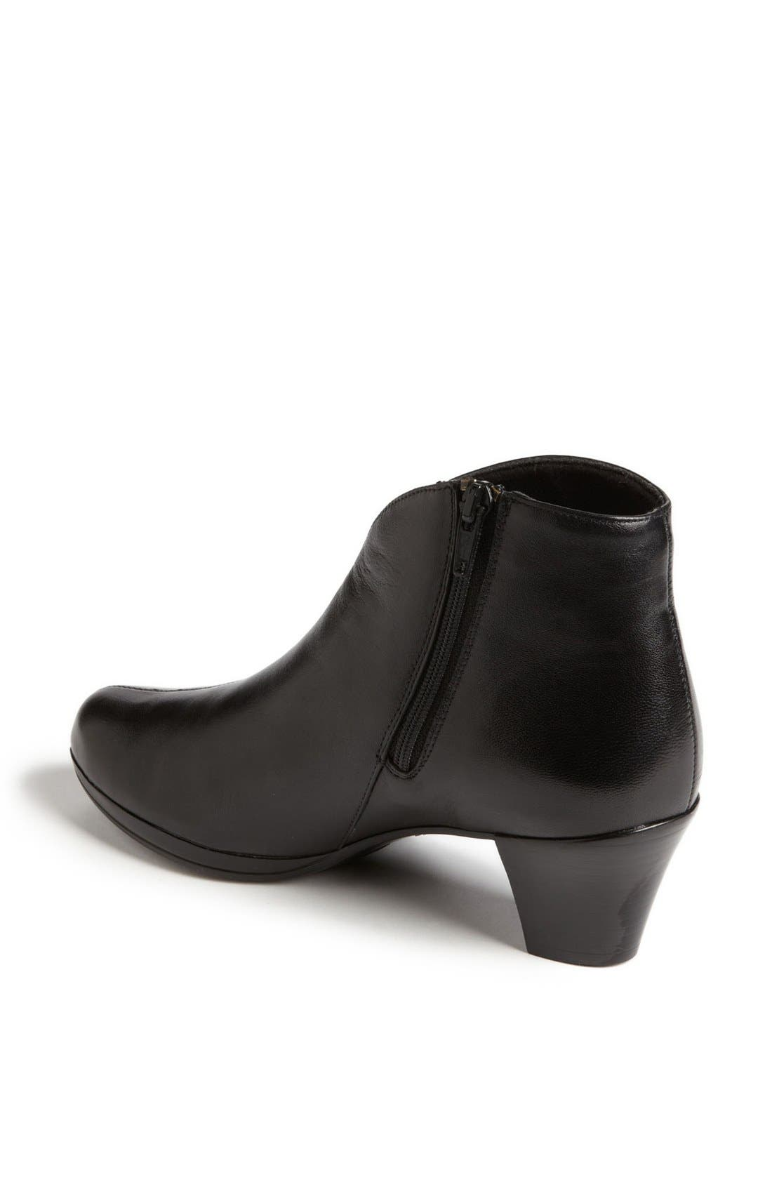 MUNRO, 'Robyn' Boot, Alternate thumbnail 3, color, BLACK LEATHER