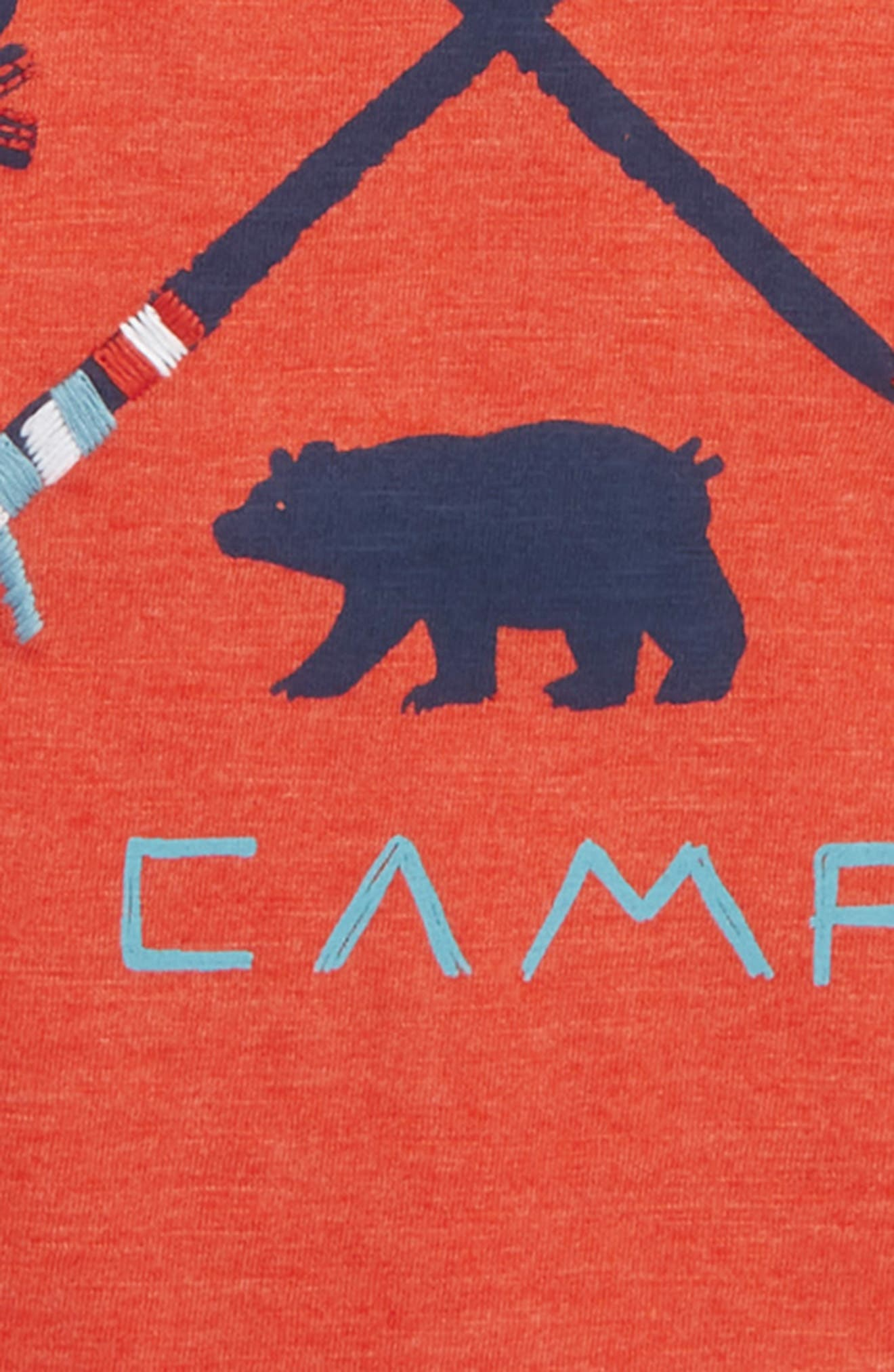 HATLEY, Retro Camp Graphic T-Shirt, Alternate thumbnail 2, color, ORANGE
