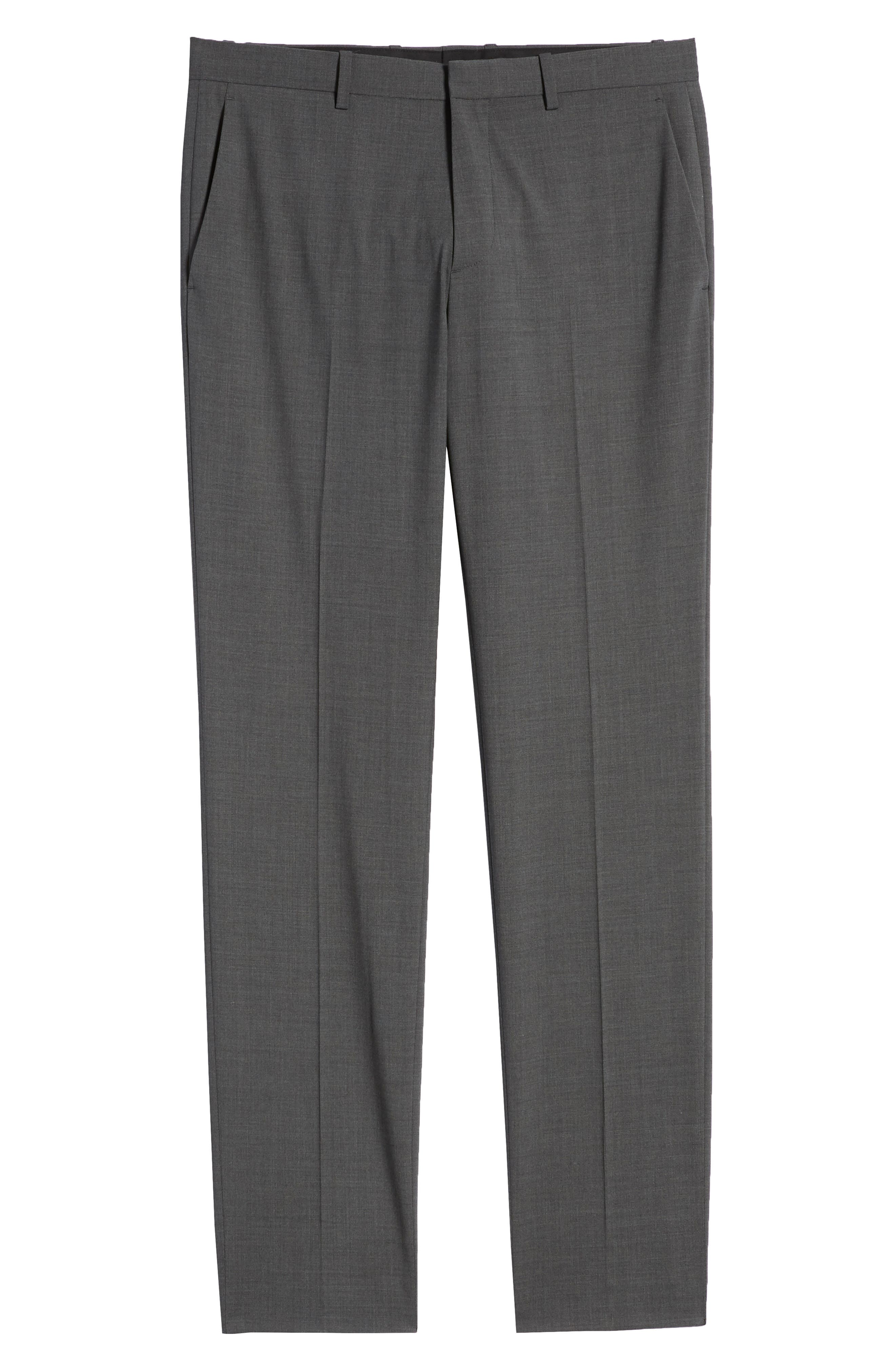 THEORY, Mayer New Tailor 2 Wool Trousers, Alternate thumbnail 6, color, CHARCOAL