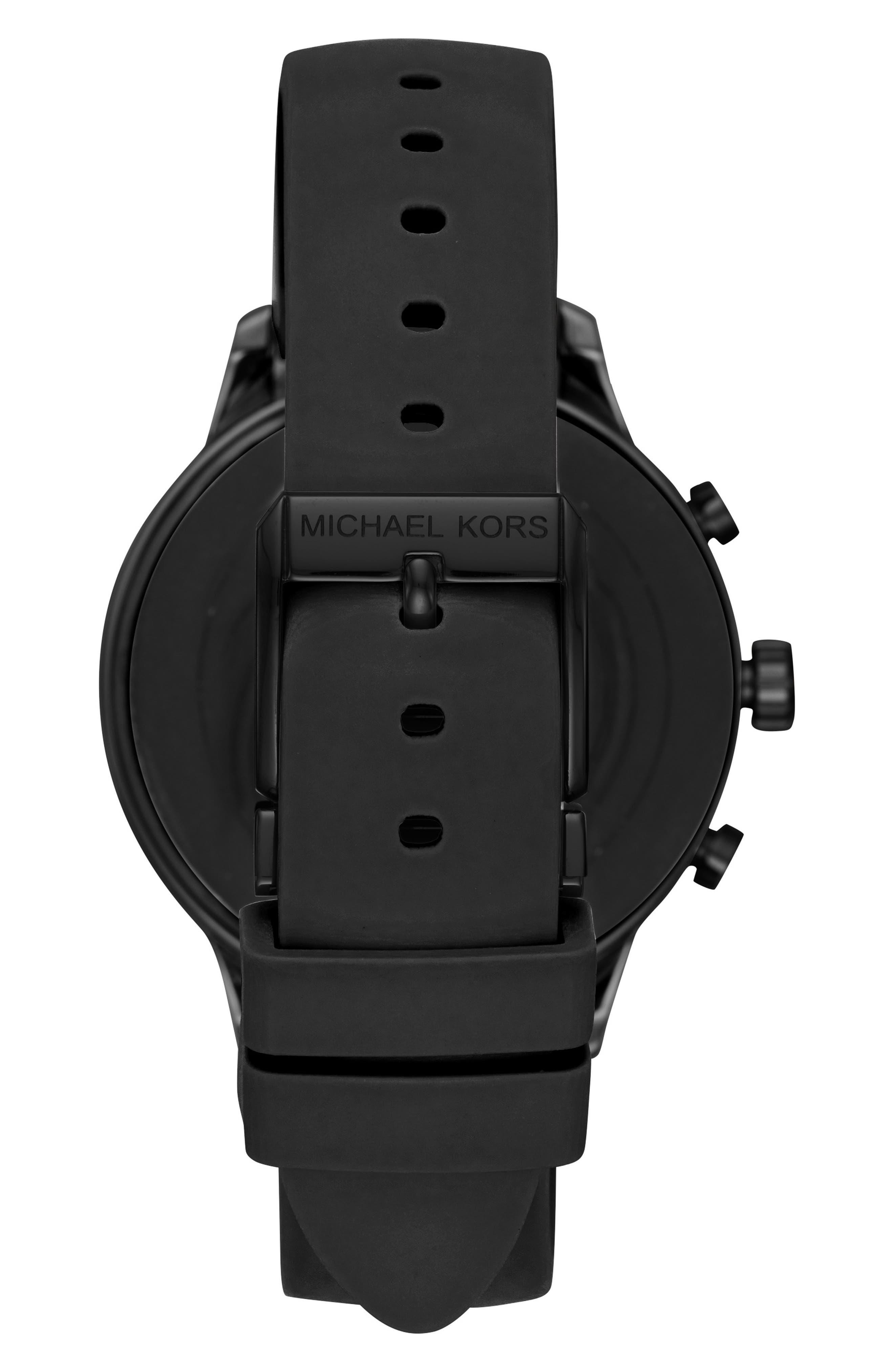 MICHAEL KORS, MICHAEL Michael Kors Access Runway Smart Watch, 41mm, Alternate thumbnail 2, color, 001