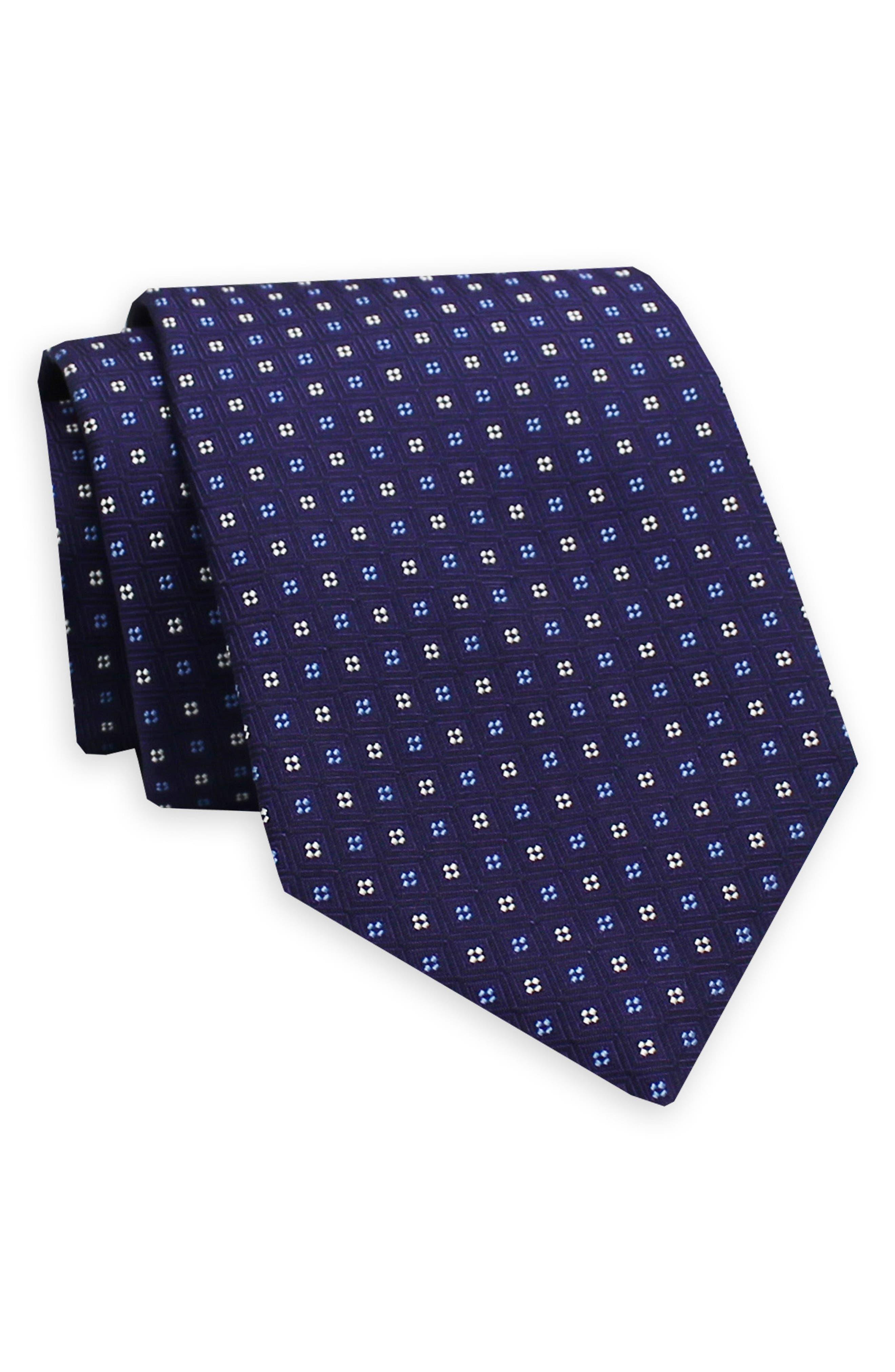 GITMAN, Geometric Silk Tie, Main thumbnail 1, color, PURPLE