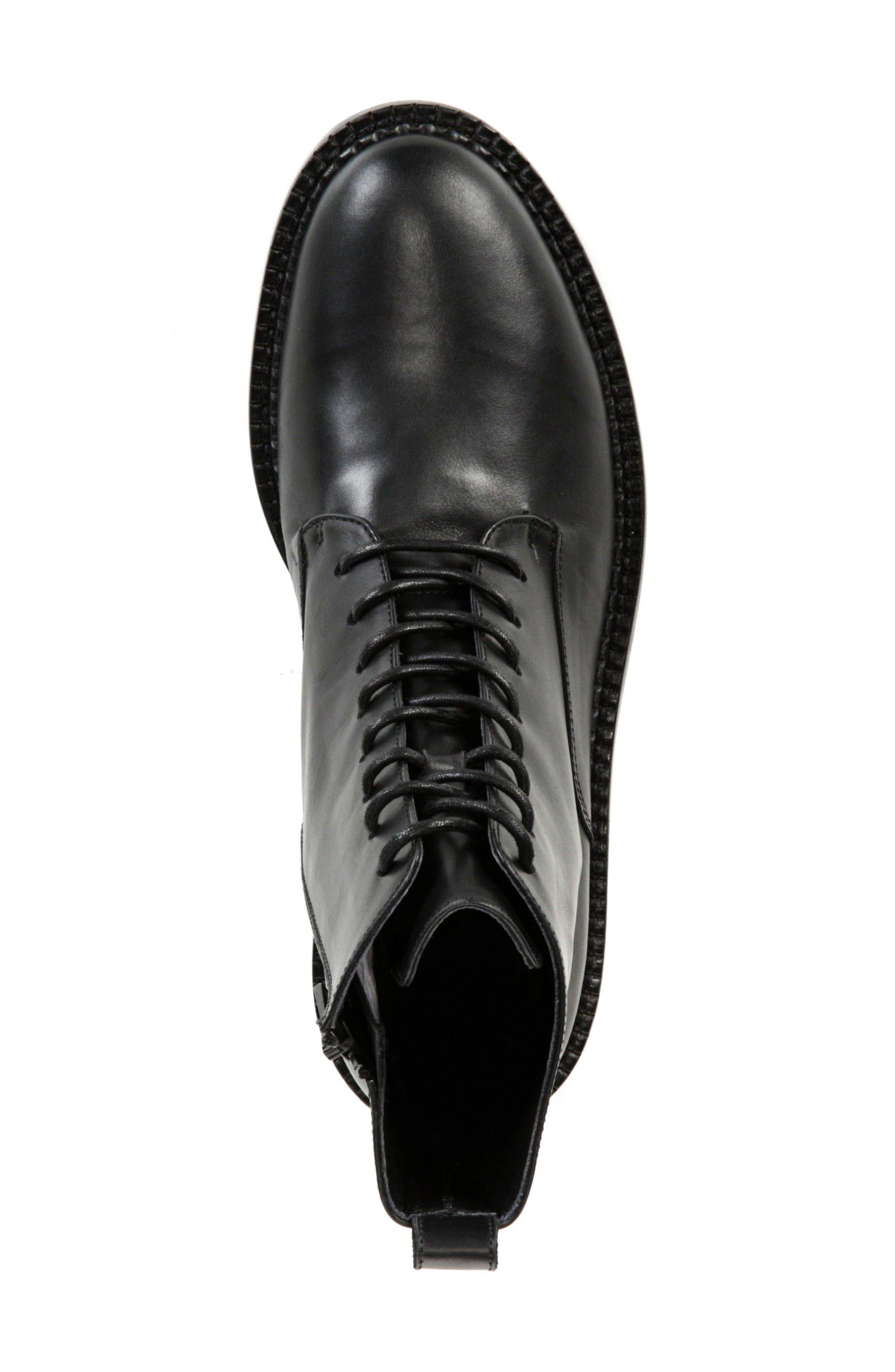 VINCE, Cabria Lace-Up Boot, Alternate thumbnail 5, color, BLACK