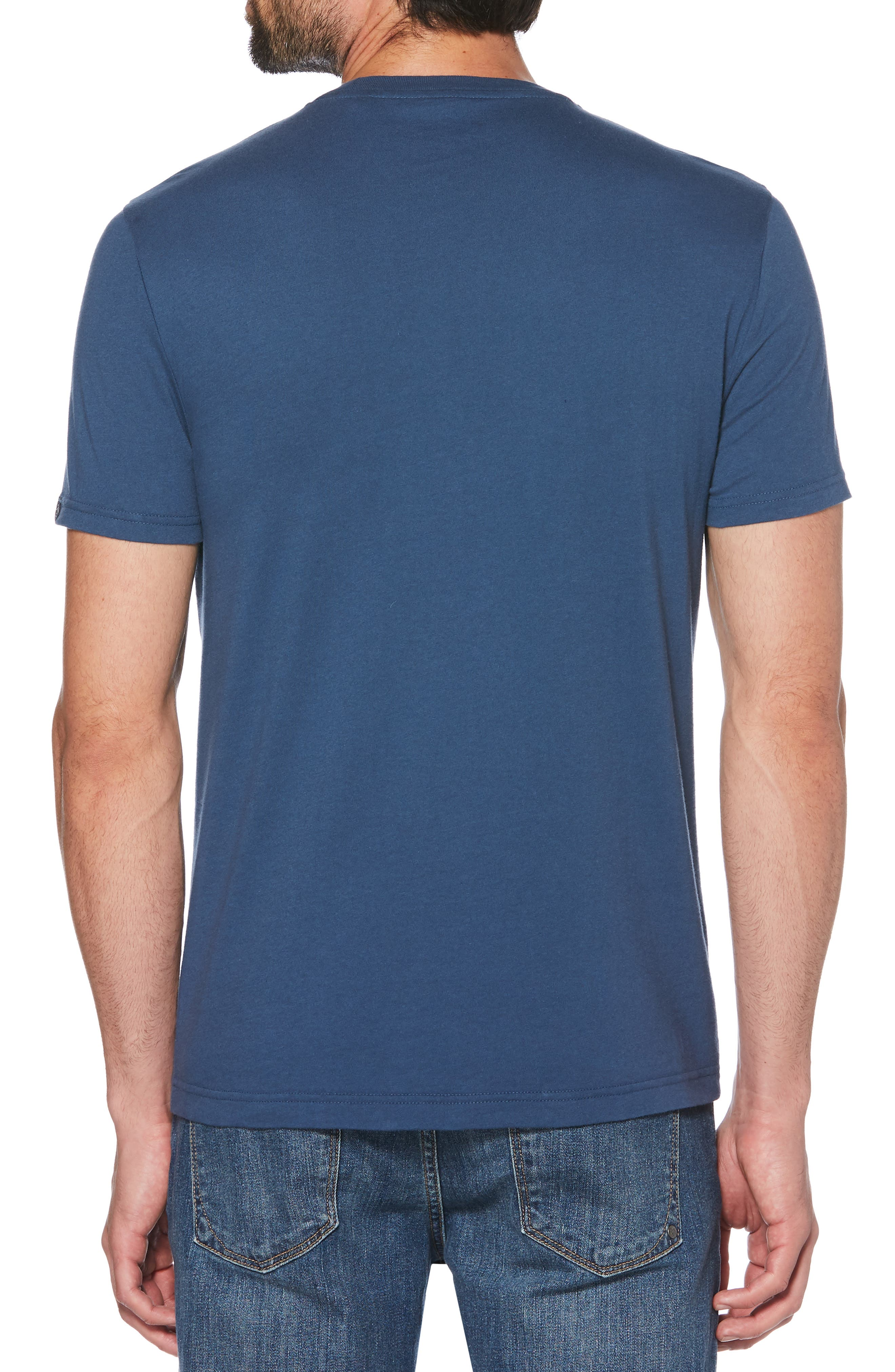 ORIGINAL PENGUIN, Leafy Infill Pete T-Shirt, Alternate thumbnail 2, color, DARK DENIM