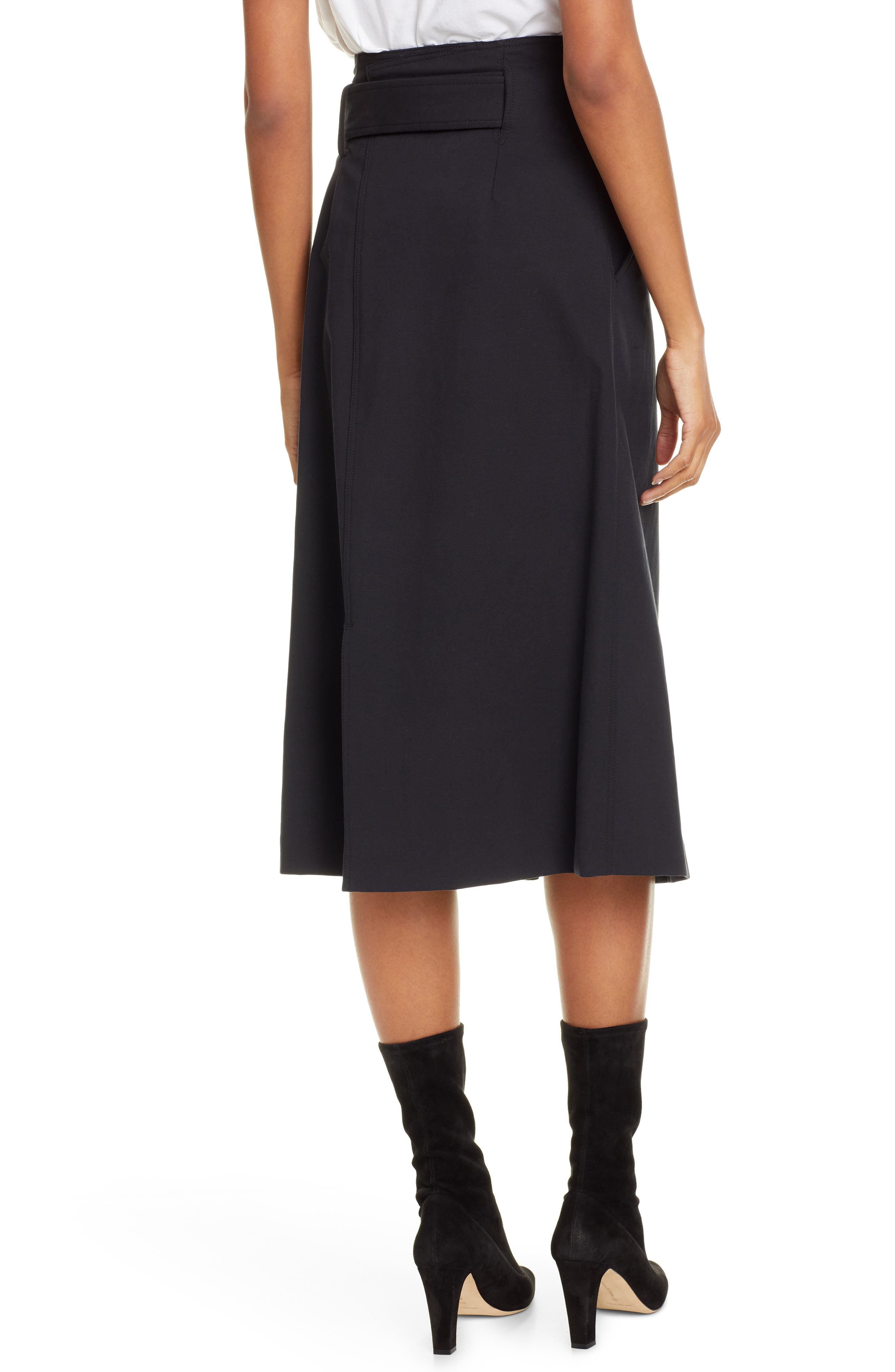 A.L.C., Aldridge Belted Midi Skirt, Alternate thumbnail 2, color, VINTAGE BLACK