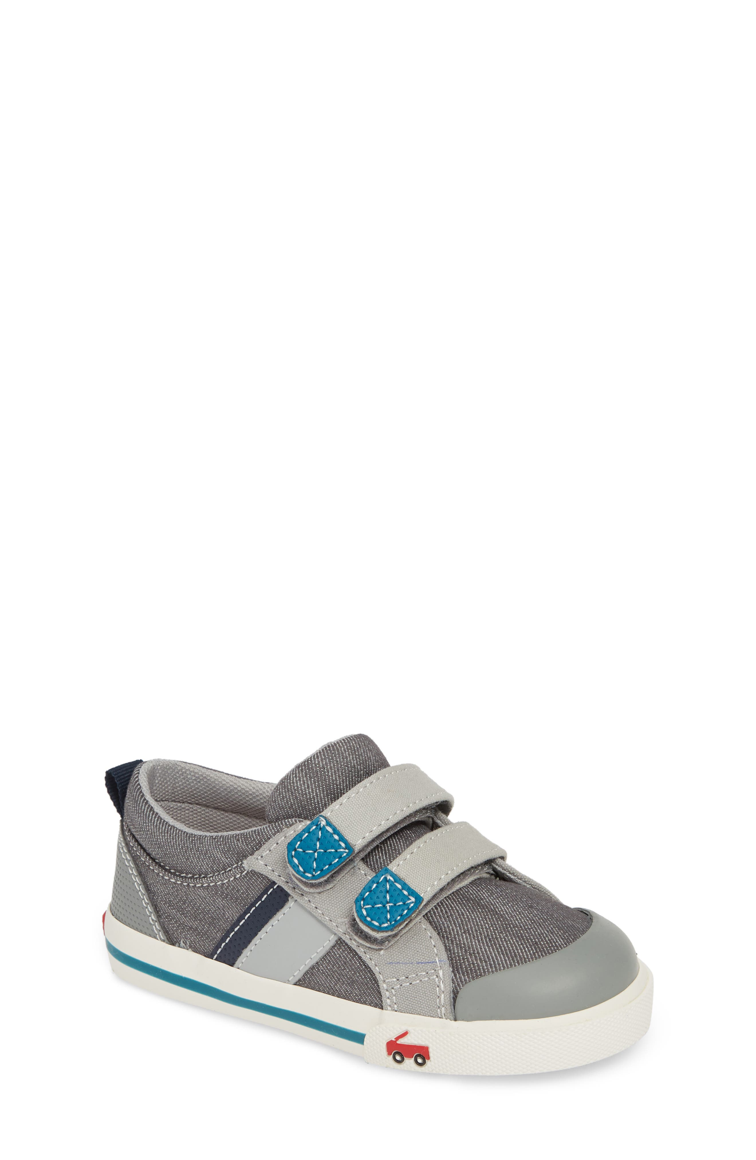 SEE KAI RUN, 'Russell' Sneaker, Main thumbnail 1, color, GREY/ TEAL