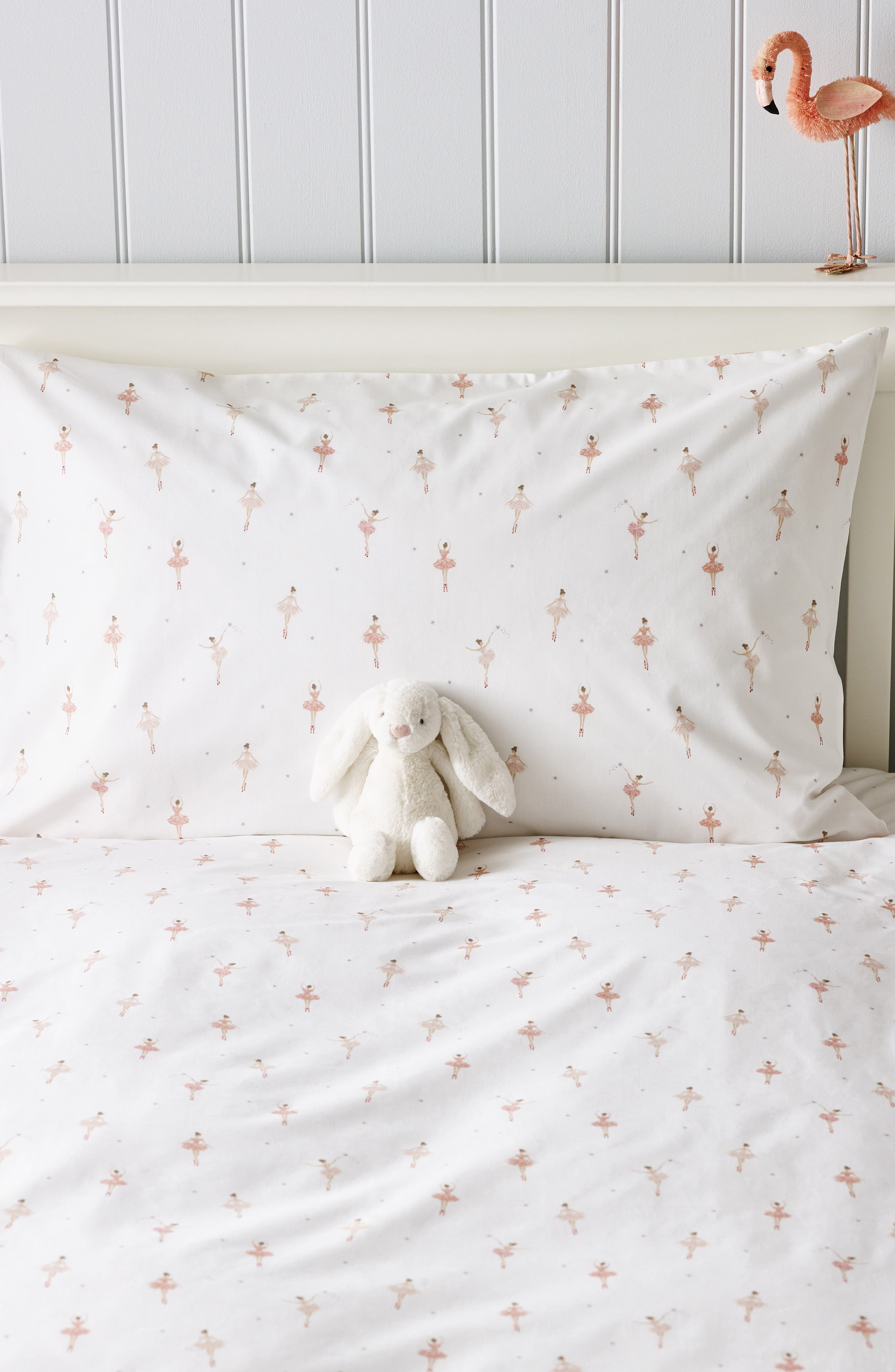 The White Company Ballerina Print Duvet Cover  Sham Set Size Toddler  White