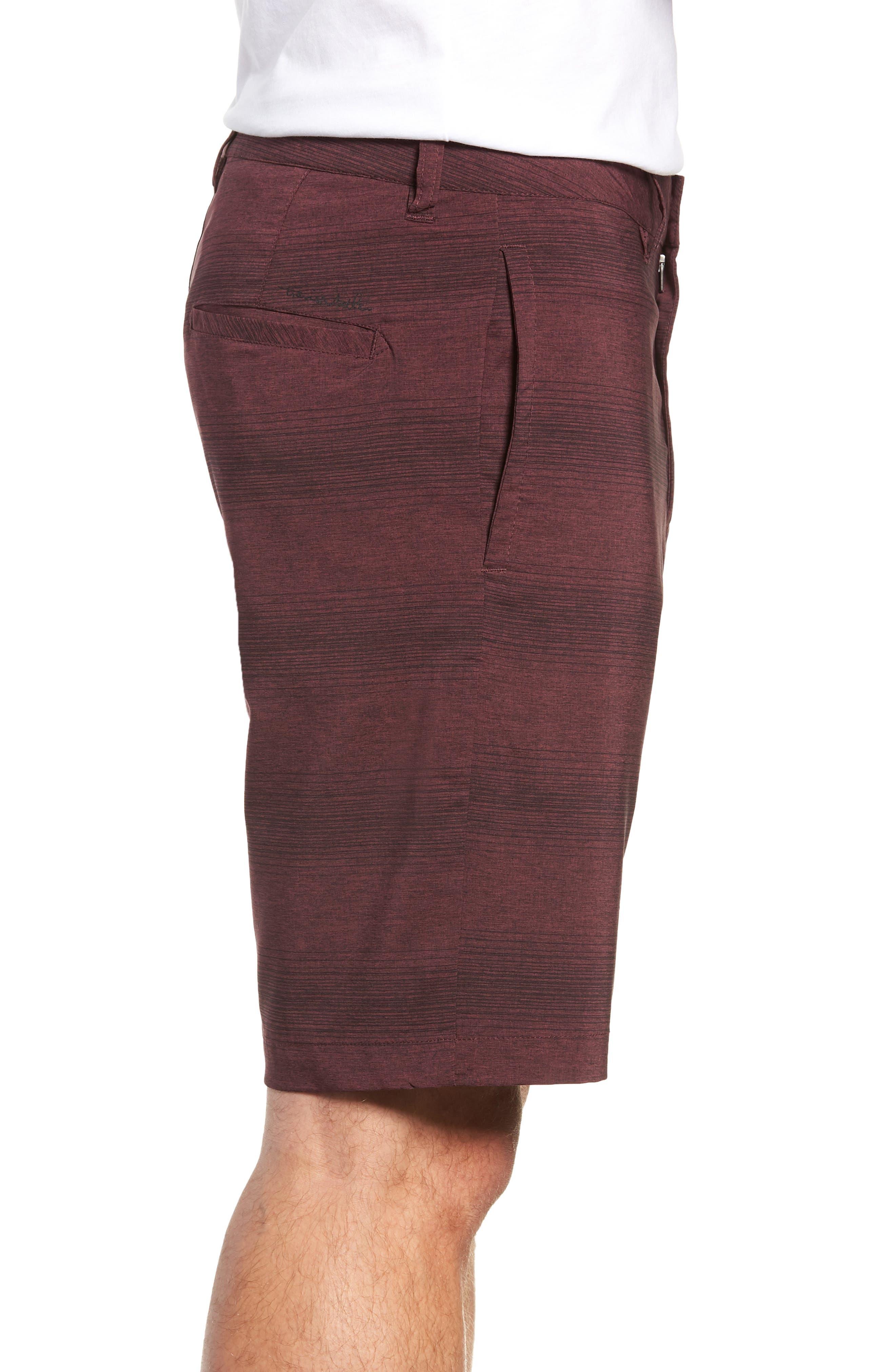 TRAVISMATHEW, Tepic Shorts, Alternate thumbnail 3, color, WINETASTING/ BLACK