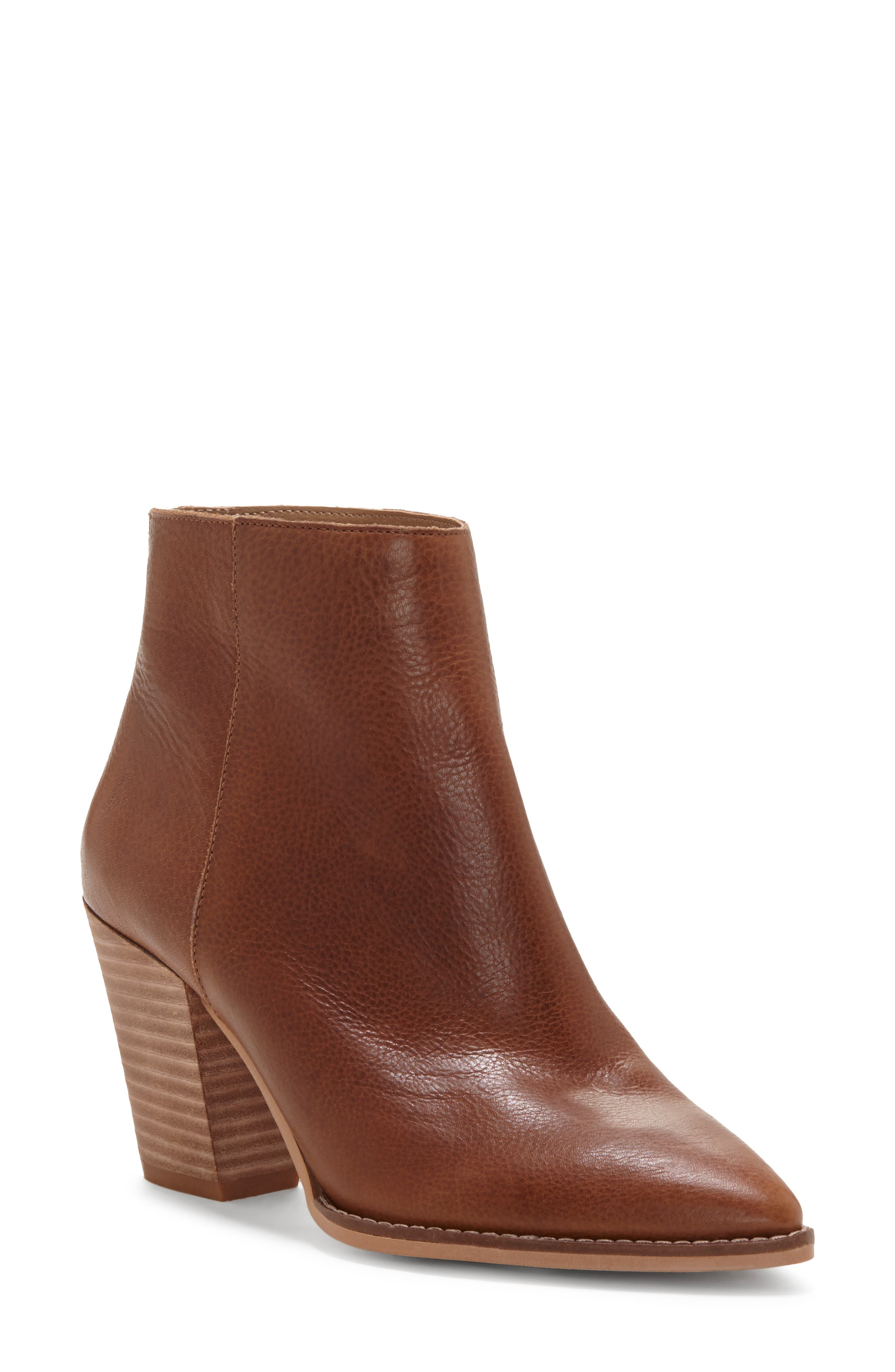 LUCKY BRAND, Adalan Bootie, Main thumbnail 1, color, MACAROON LEATHER