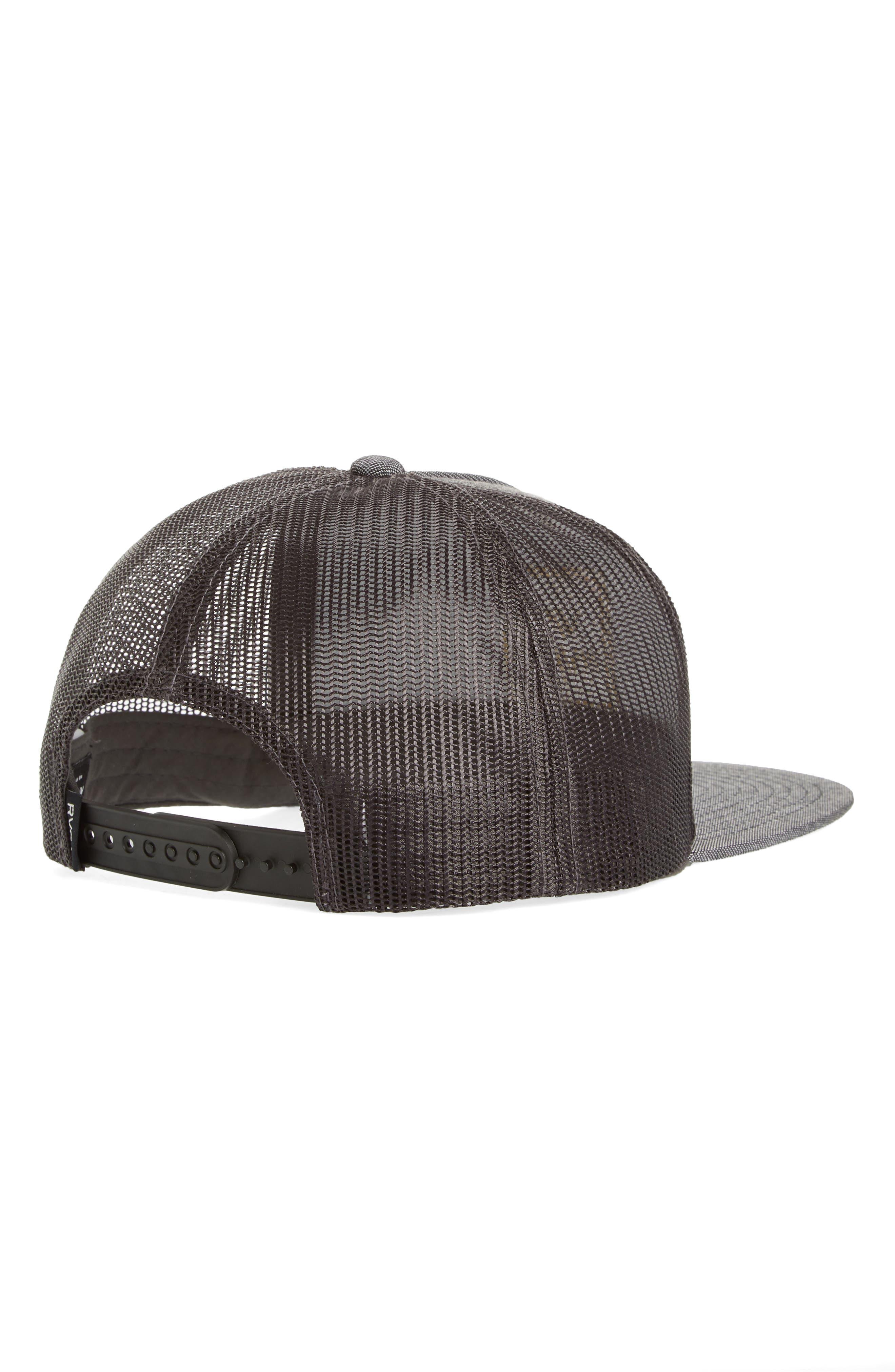 RVCA, VA All the Way Trucker Hat, Alternate thumbnail 2, color, DARK CHARCOAL HEATHER