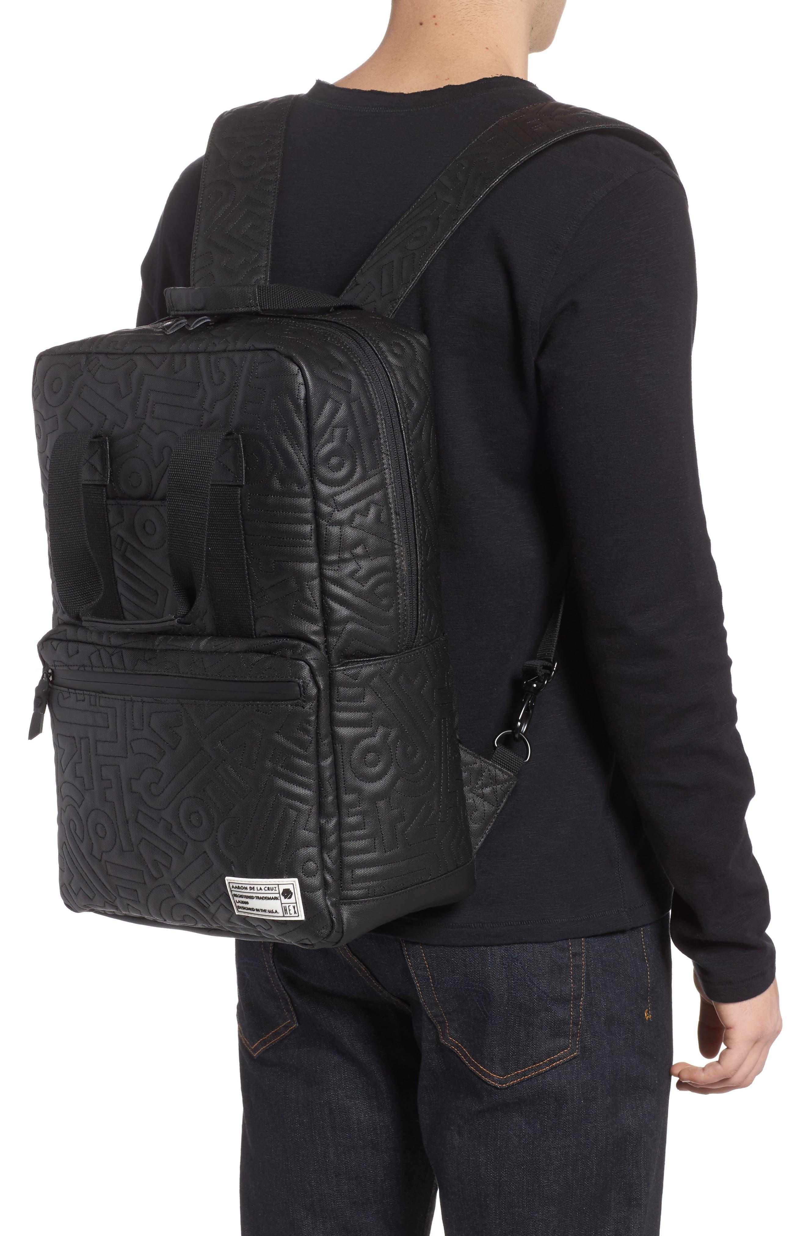 HEX, x Aaron De La Cruz Convertible Backpack, Alternate thumbnail 2, color, 003