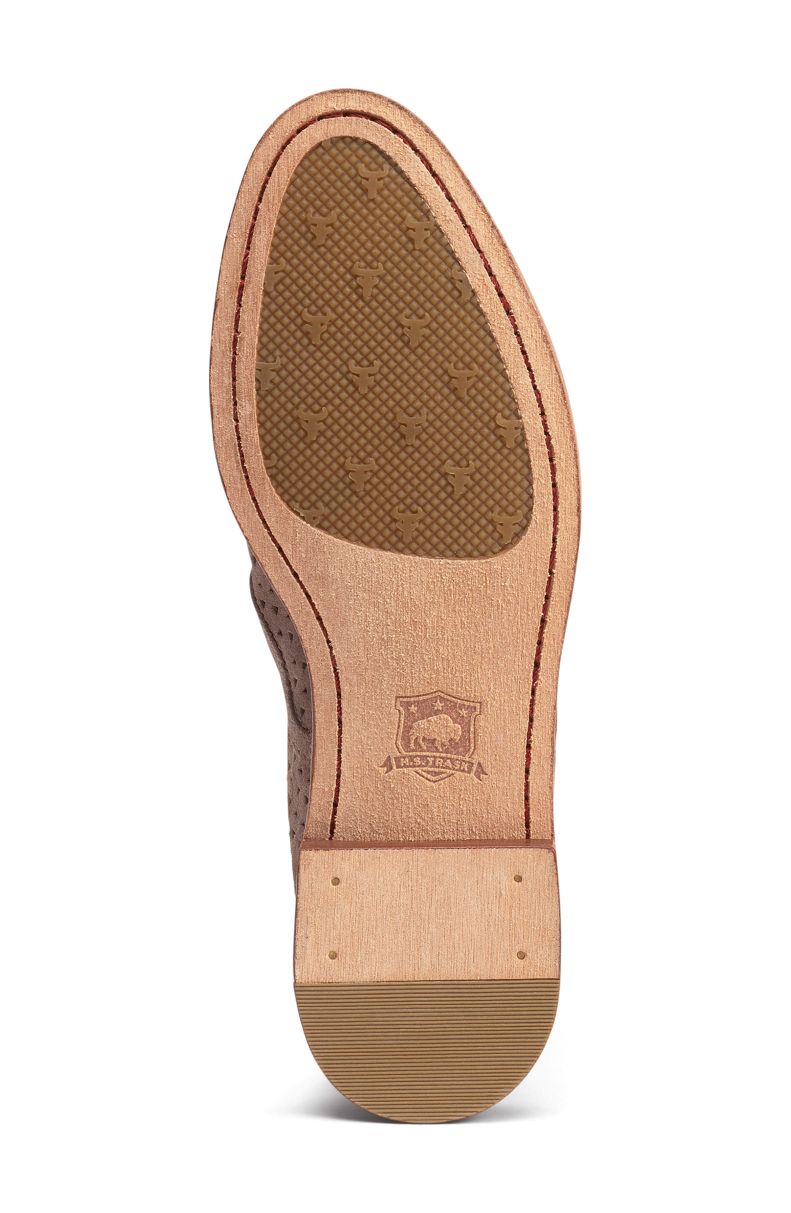 TRASK, Ali Perforated Loafer, Alternate thumbnail 6, color, BLUSH SUEDE