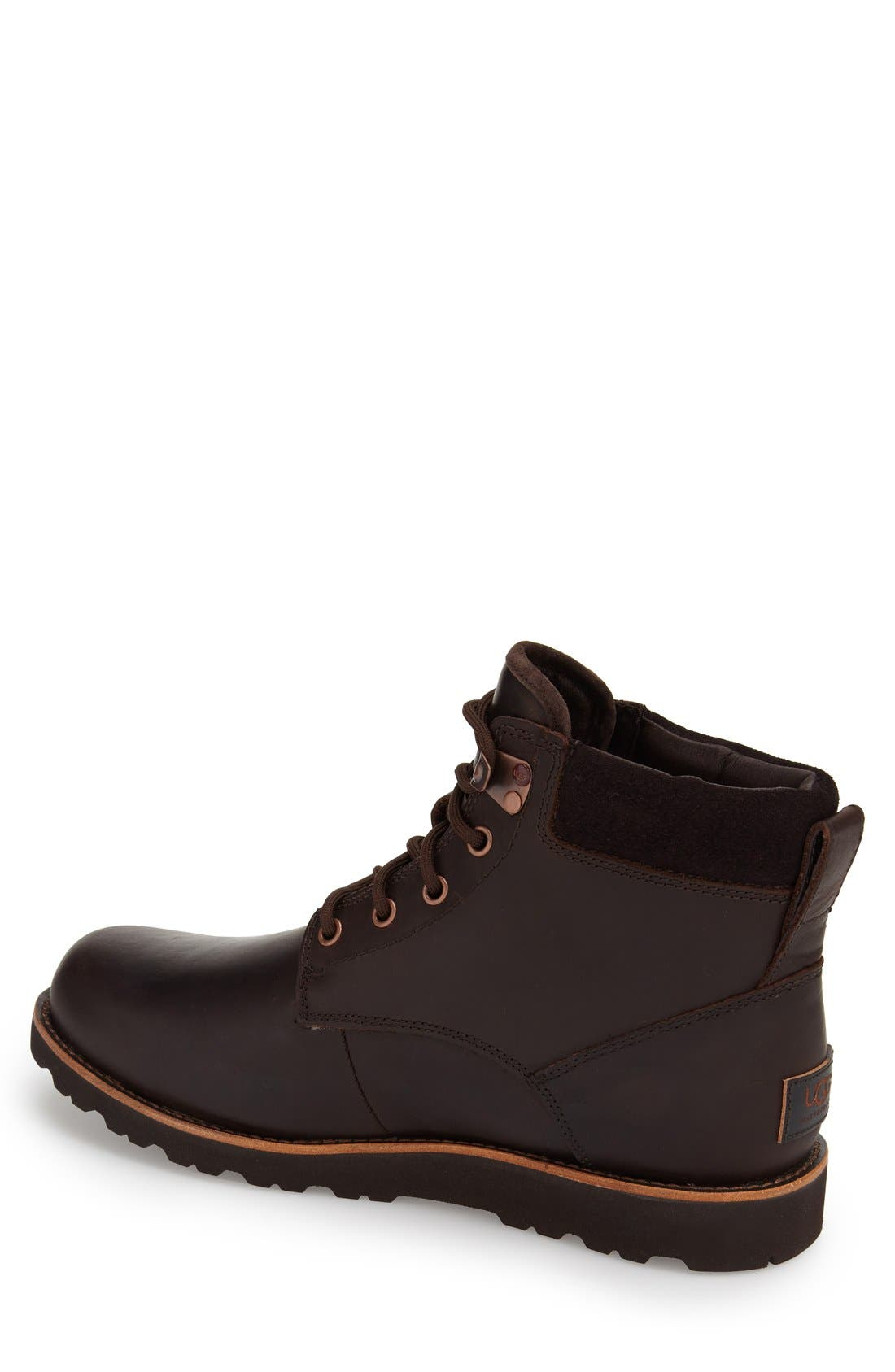 UGG<SUP>®</SUP>, Seton Waterproof Chukka Boot, Alternate thumbnail 4, color, STOUT
