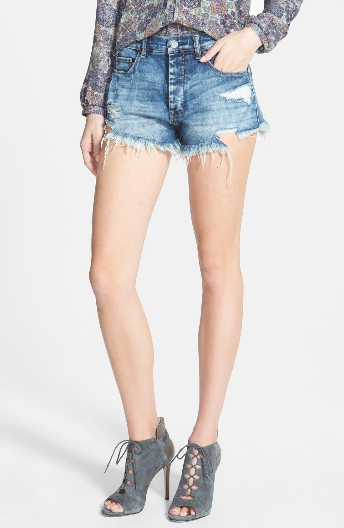 BLANKNYC 'Fit of Rage' Cutoff Denim Shorts, Main, color, 420