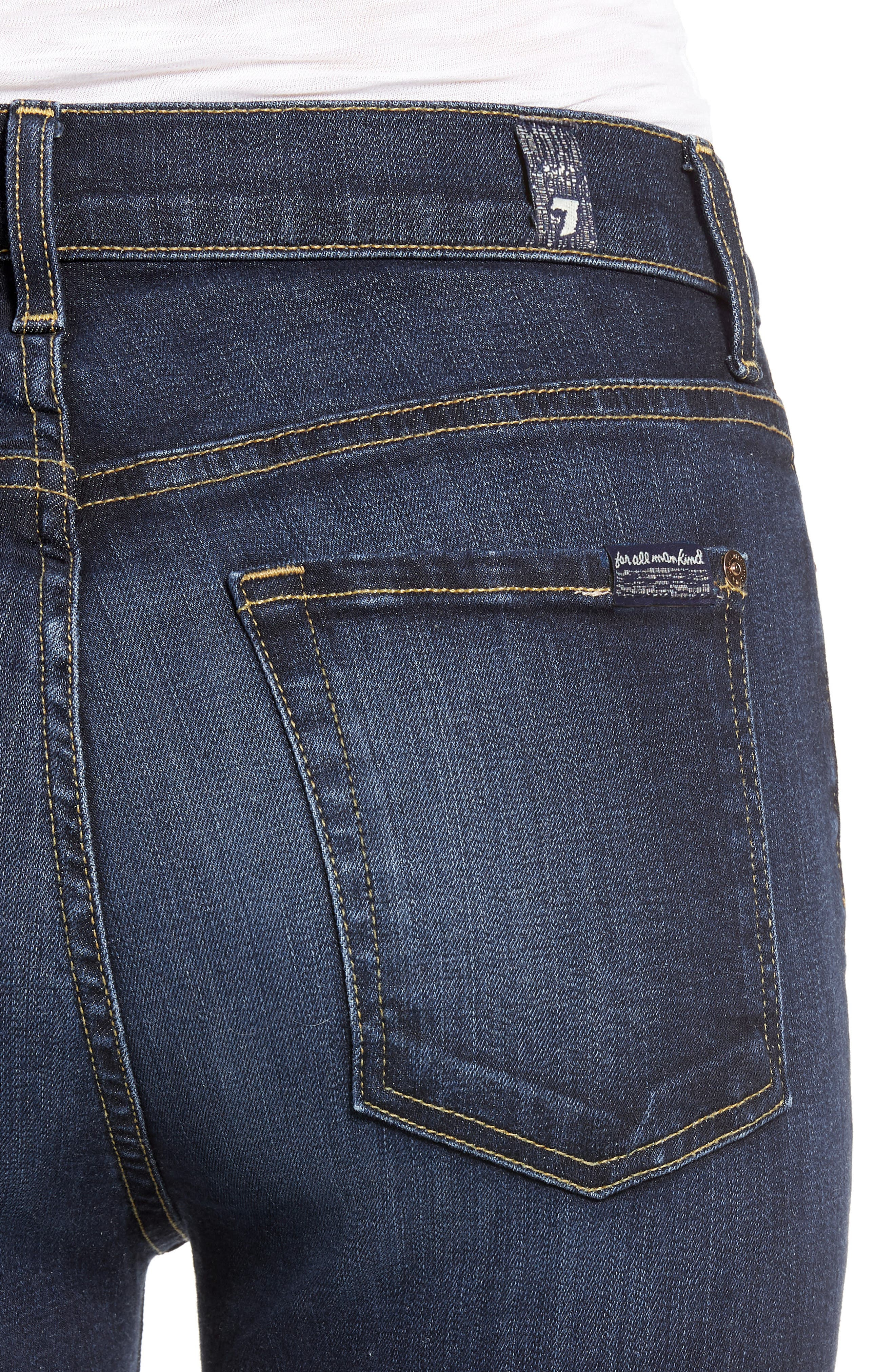 7 FOR ALL MANKIND<SUP>®</SUP>, The High Waist Skinny Jeans, Alternate thumbnail 5, color, AUTHENTIC FATE