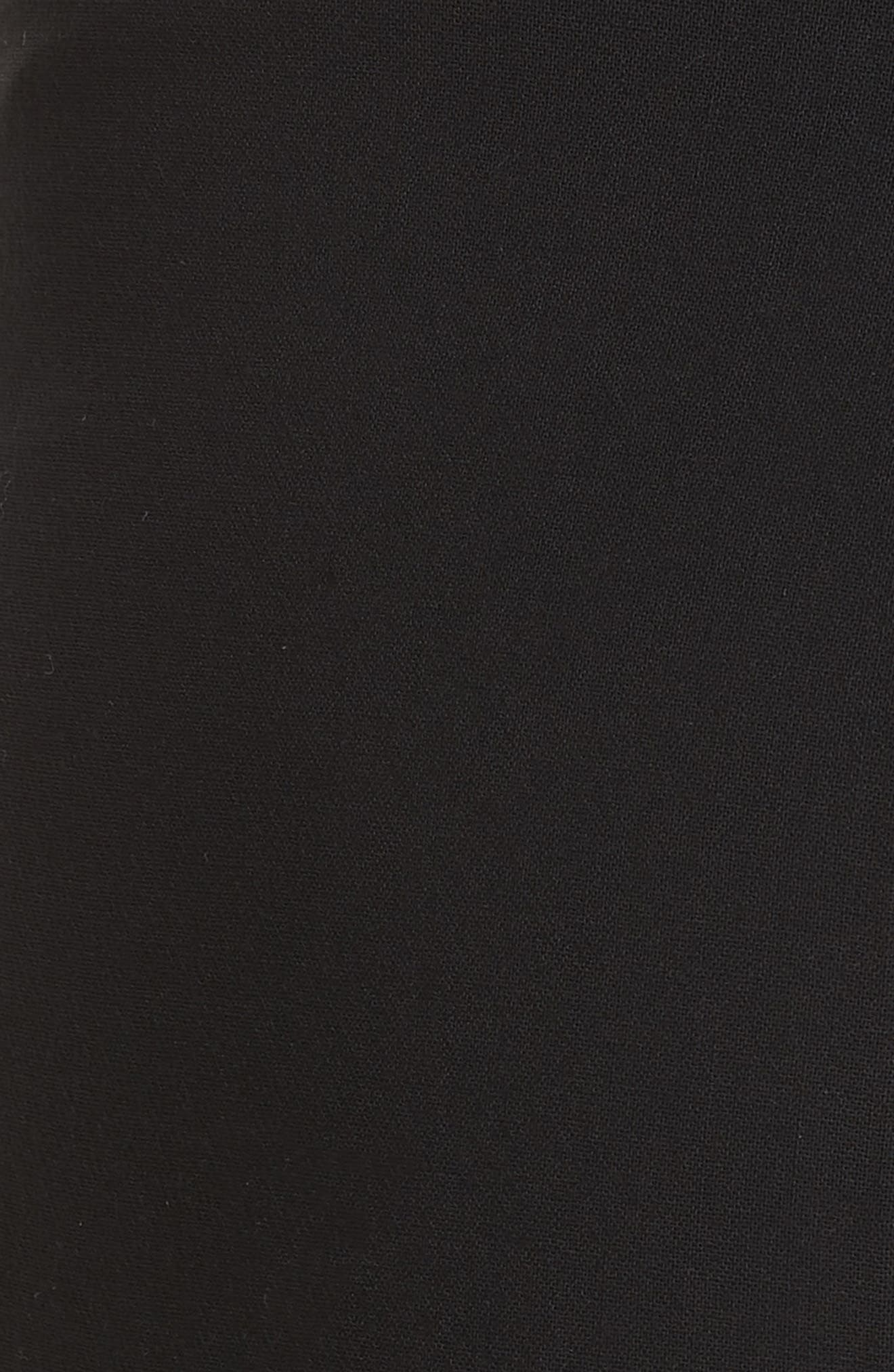 AKRIS, Farrah Stretch Wool Flare Pants, Alternate thumbnail 5, color, BLACK