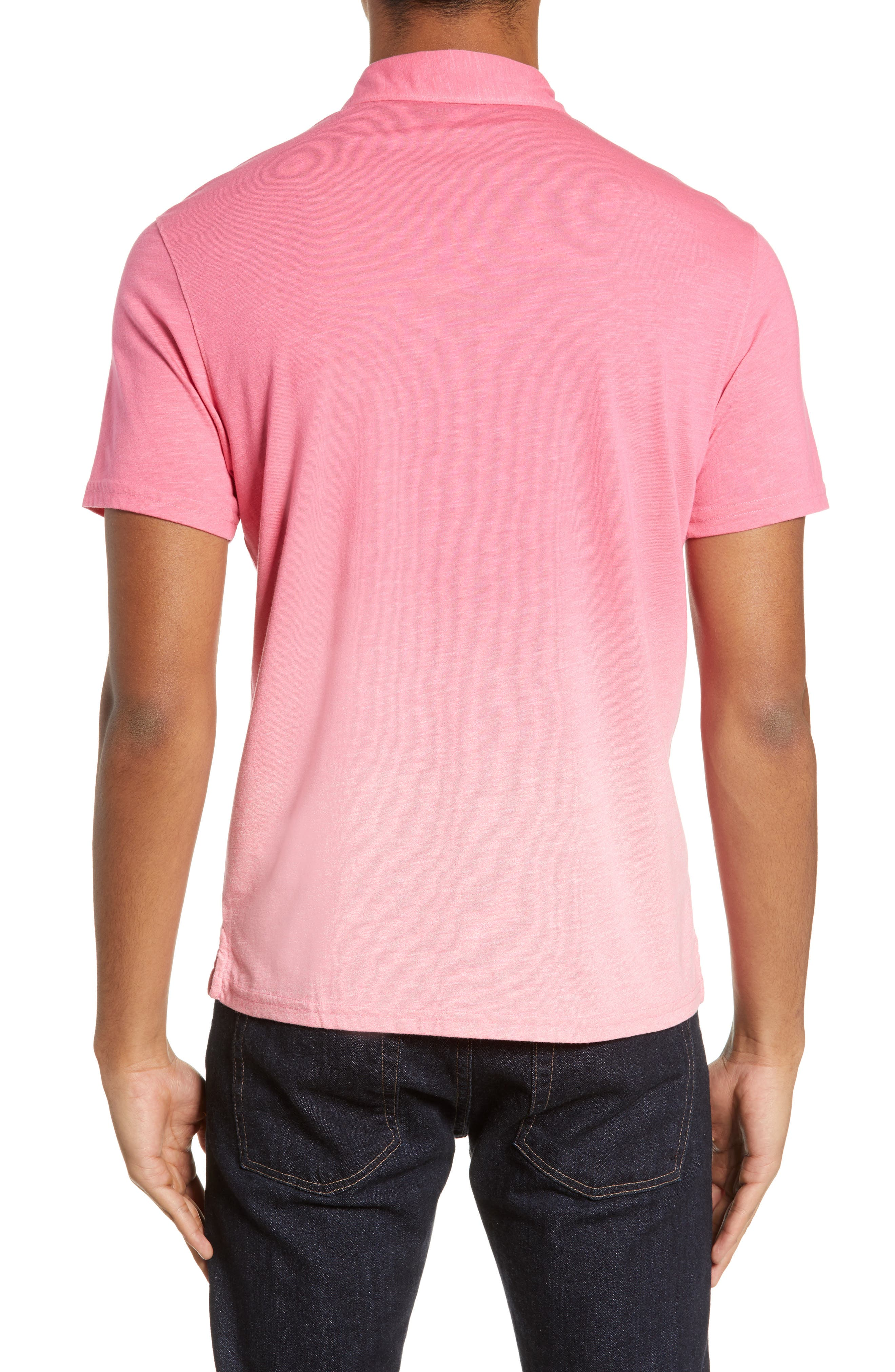 ZACHARY PRELL, Shelter Island Dip Dye Polo, Alternate thumbnail 2, color, BRIGHT PINK