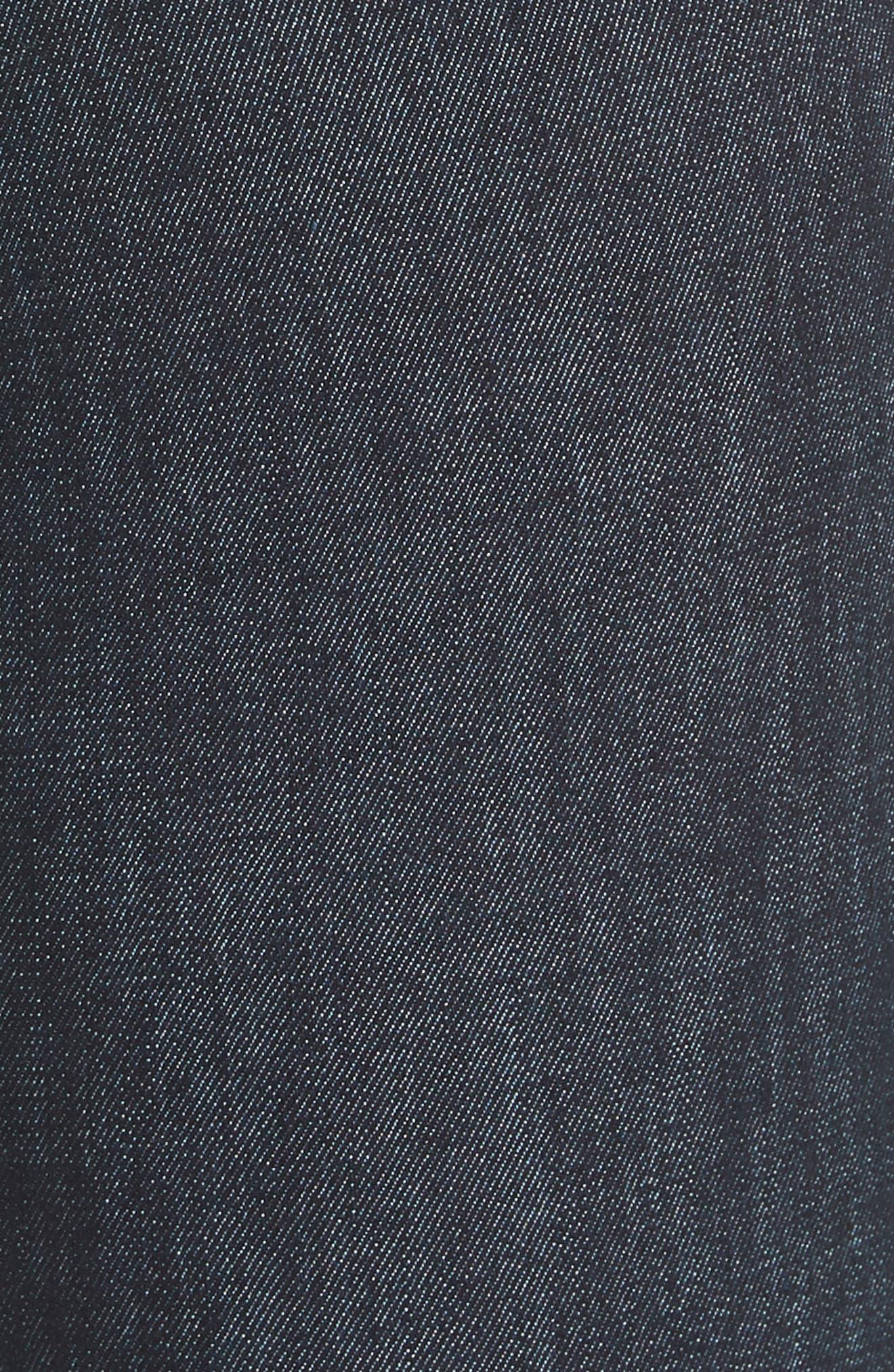 RAG & BONE, High Waist Skinny Jeans, Alternate thumbnail 6, color, INDIGO