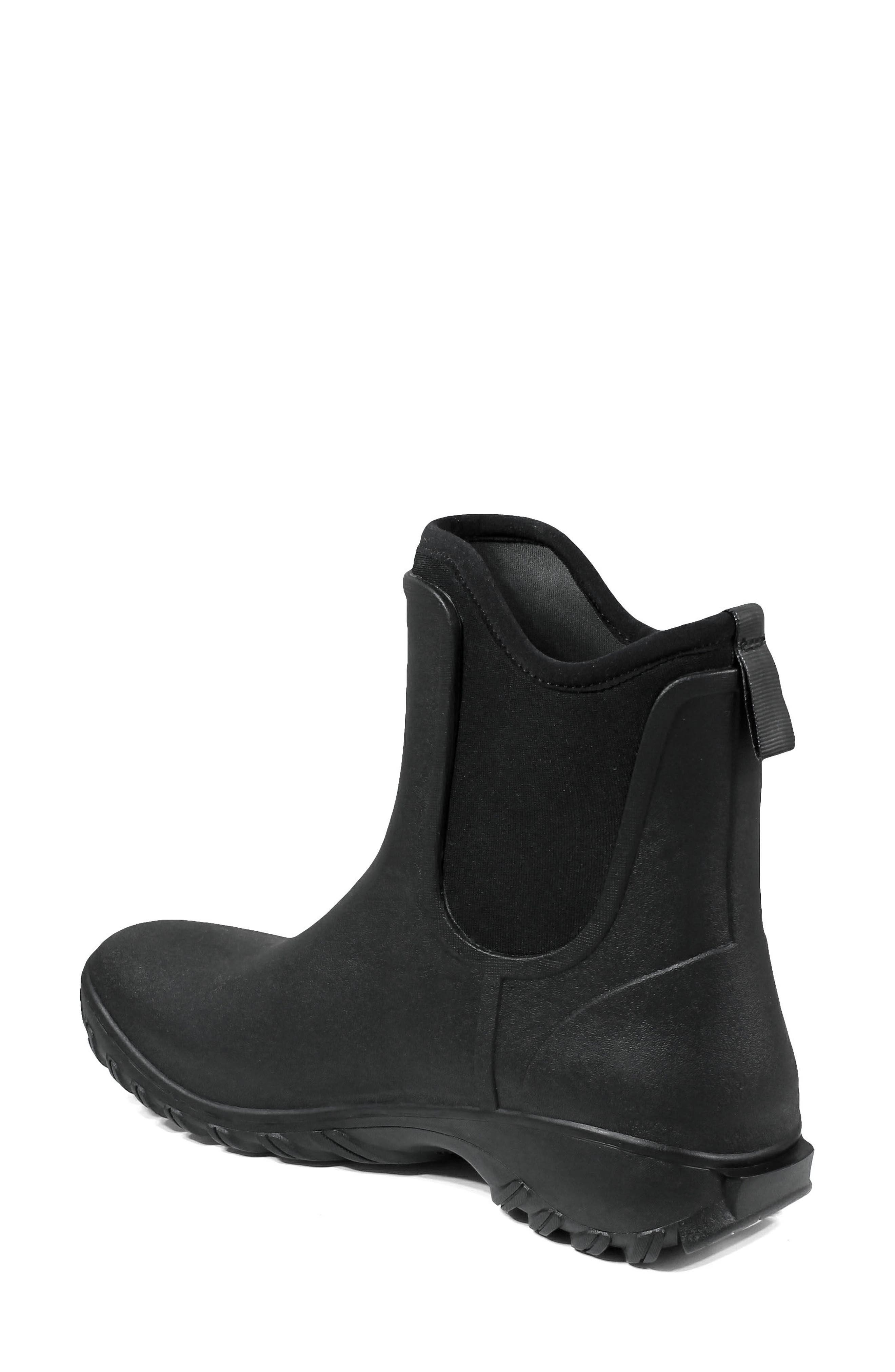 BOGS, Sauvie Waterproof Chelsea Boot, Alternate thumbnail 2, color, BLACK RUBBER